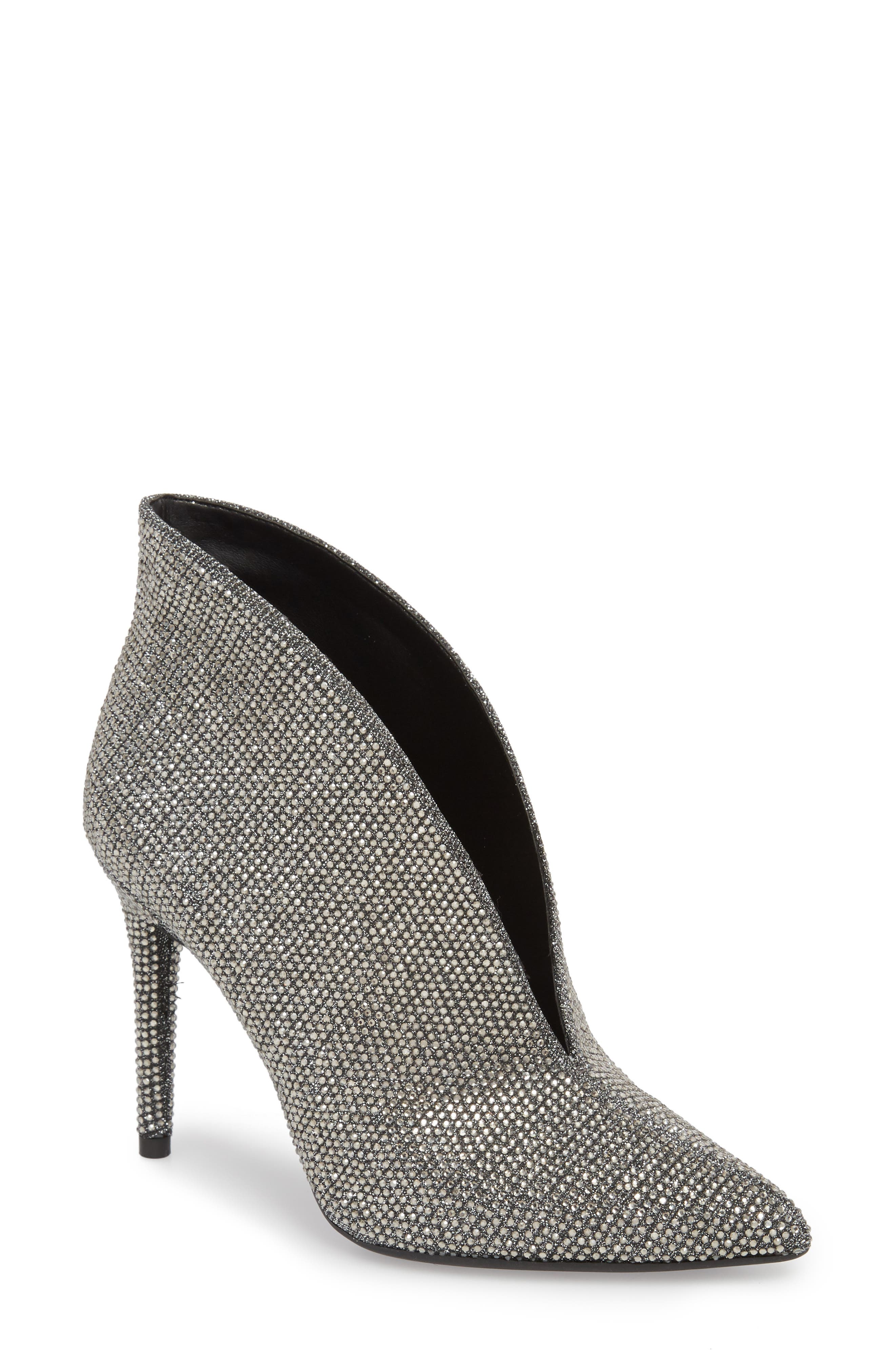 Lasnia Embellished Bootie,                             Main thumbnail 1, color,                             PEWTER MULTI