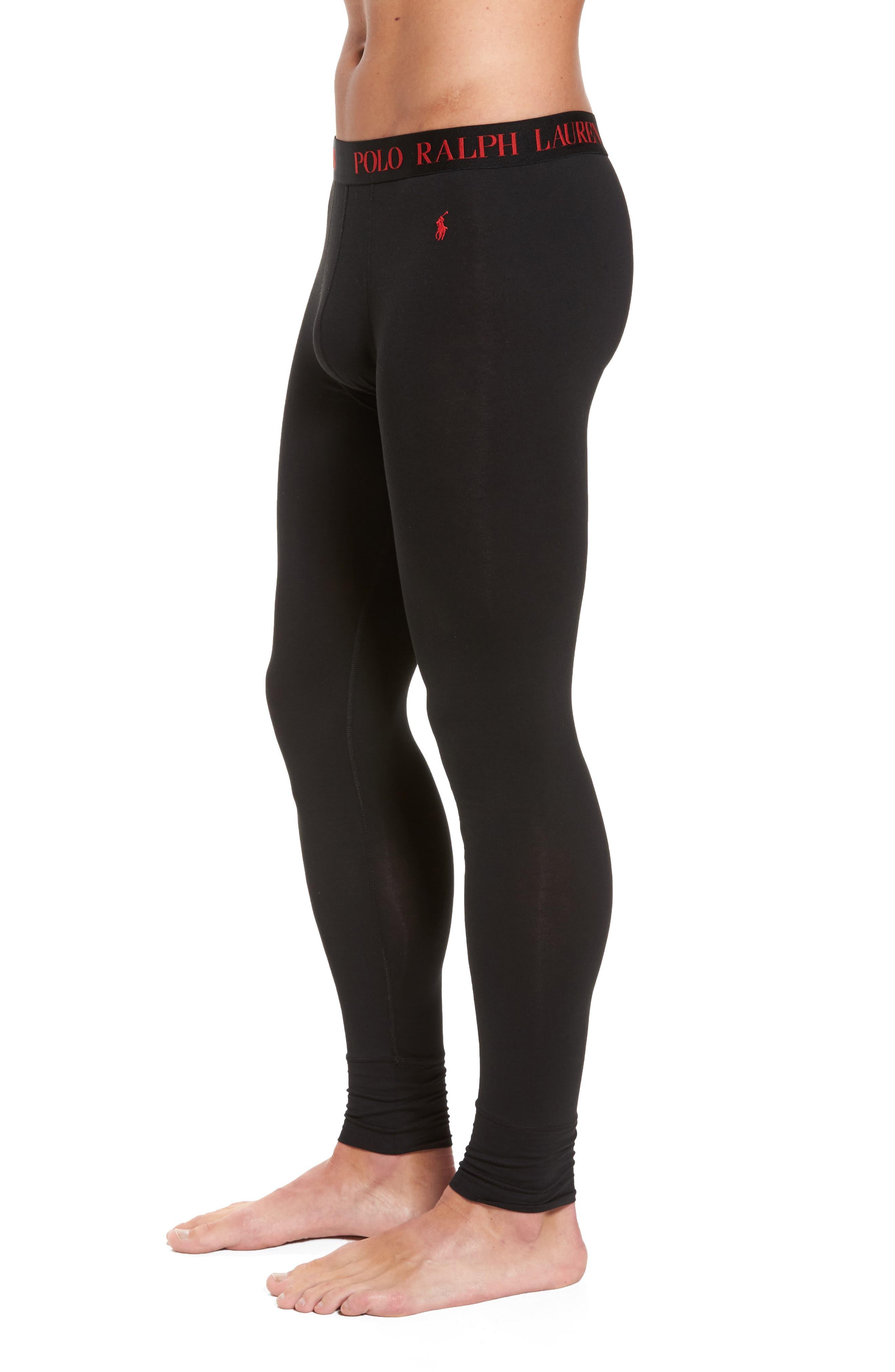 Long Underwear,                             Alternate thumbnail 3, color,                             POLO BLACK