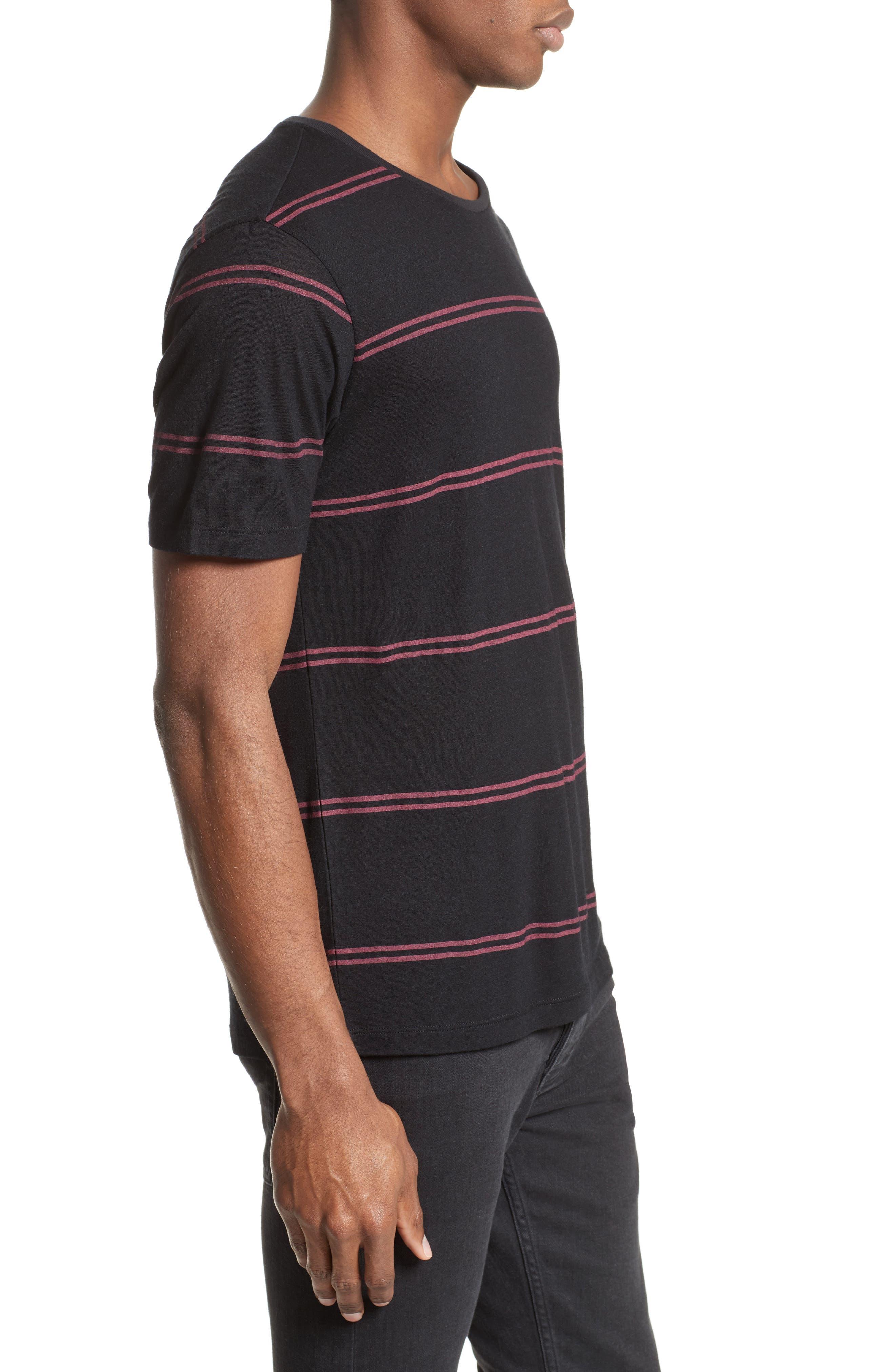 Stripe T-Shirt,                             Alternate thumbnail 3, color,                             001