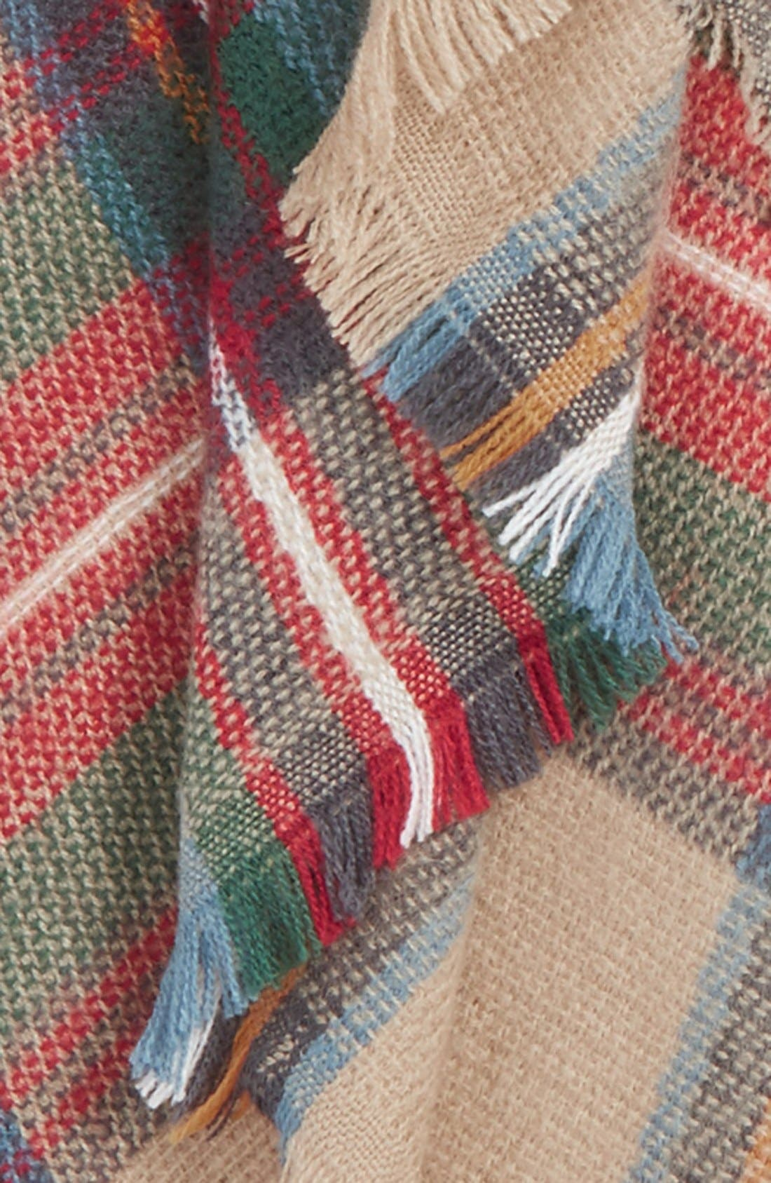 Plaid Blanket Scarf,                             Alternate thumbnail 2, color,                             250
