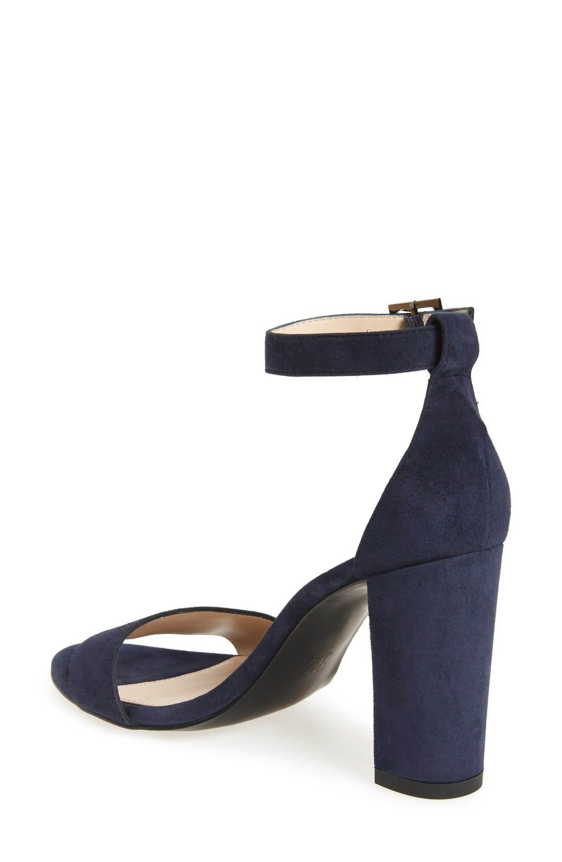 PELLE MODA,                             Bonnie Ankle Strap Sandal,                             Alternate thumbnail 2, color,                             MIDNIGHT BLUE SUEDE