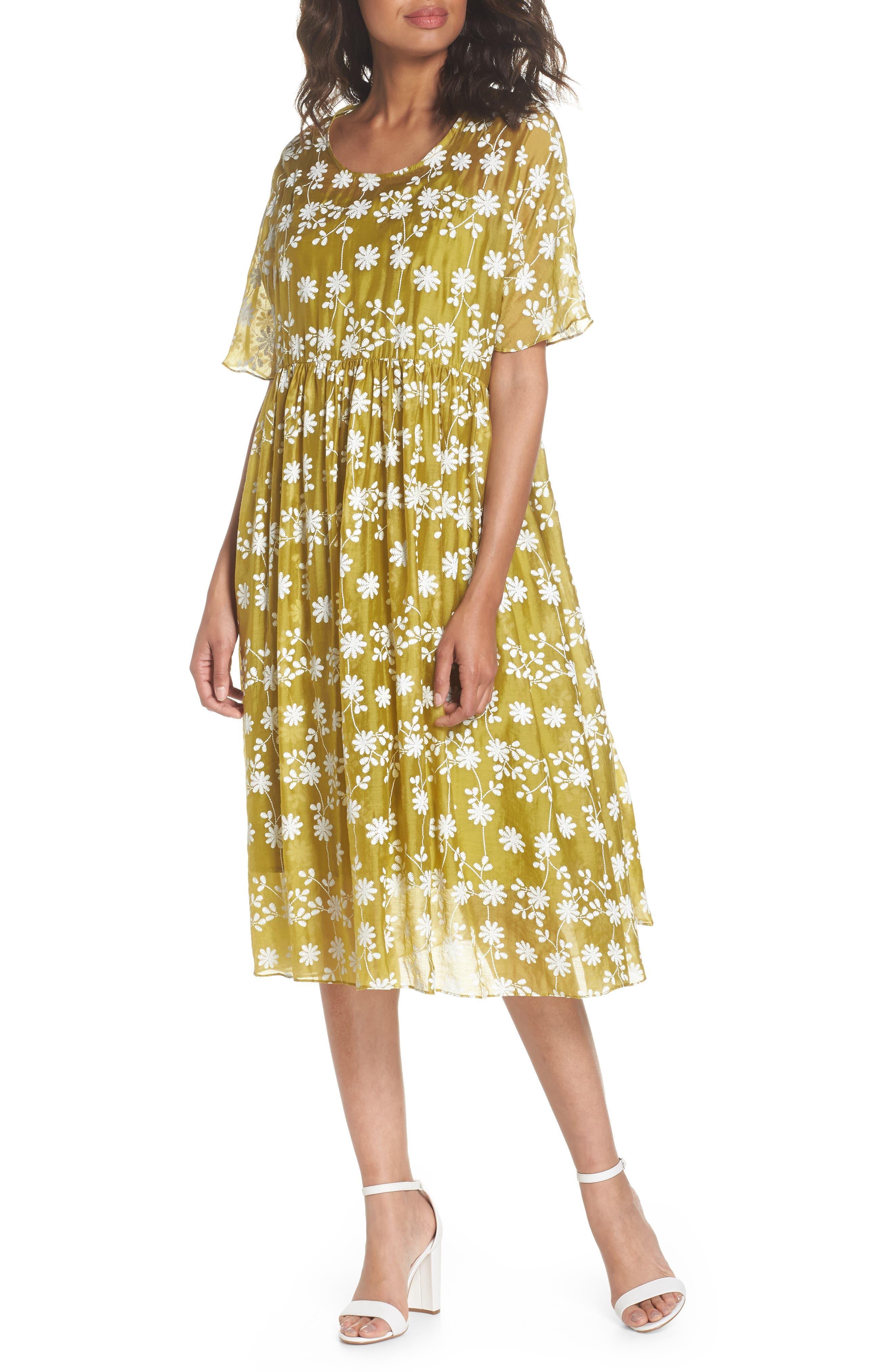 Daisy Picking Floral Dress,                             Main thumbnail 1, color,                             700