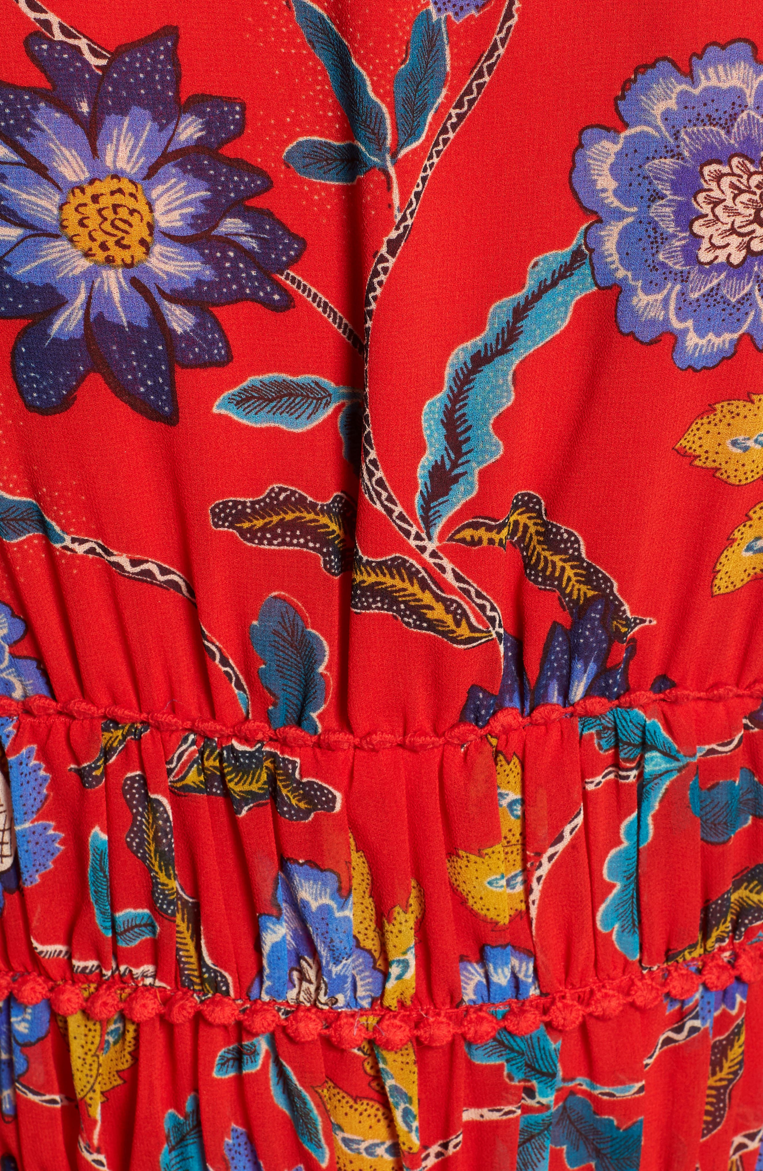 Lucy Floral Top,                             Alternate thumbnail 6, color,                             RED MULTI