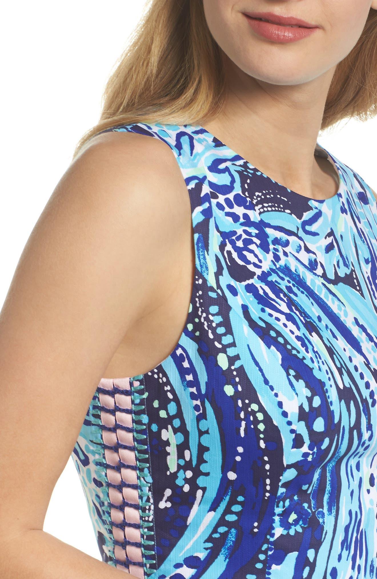 Mila Sheath Dress,                             Alternate thumbnail 4, color,                             410