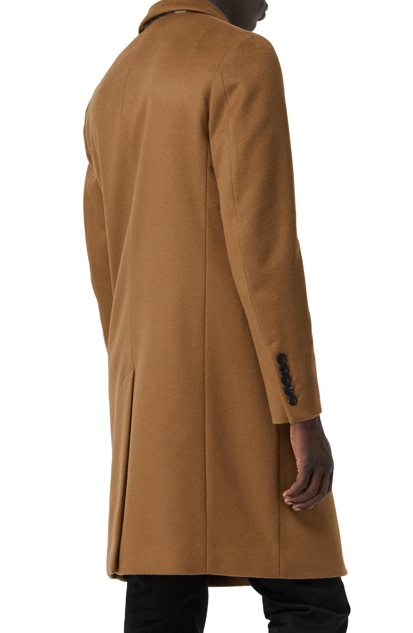 Halesowen Wool and Cashmere Overcoat,                             Alternate thumbnail 3, color,                             DARK CAMEL