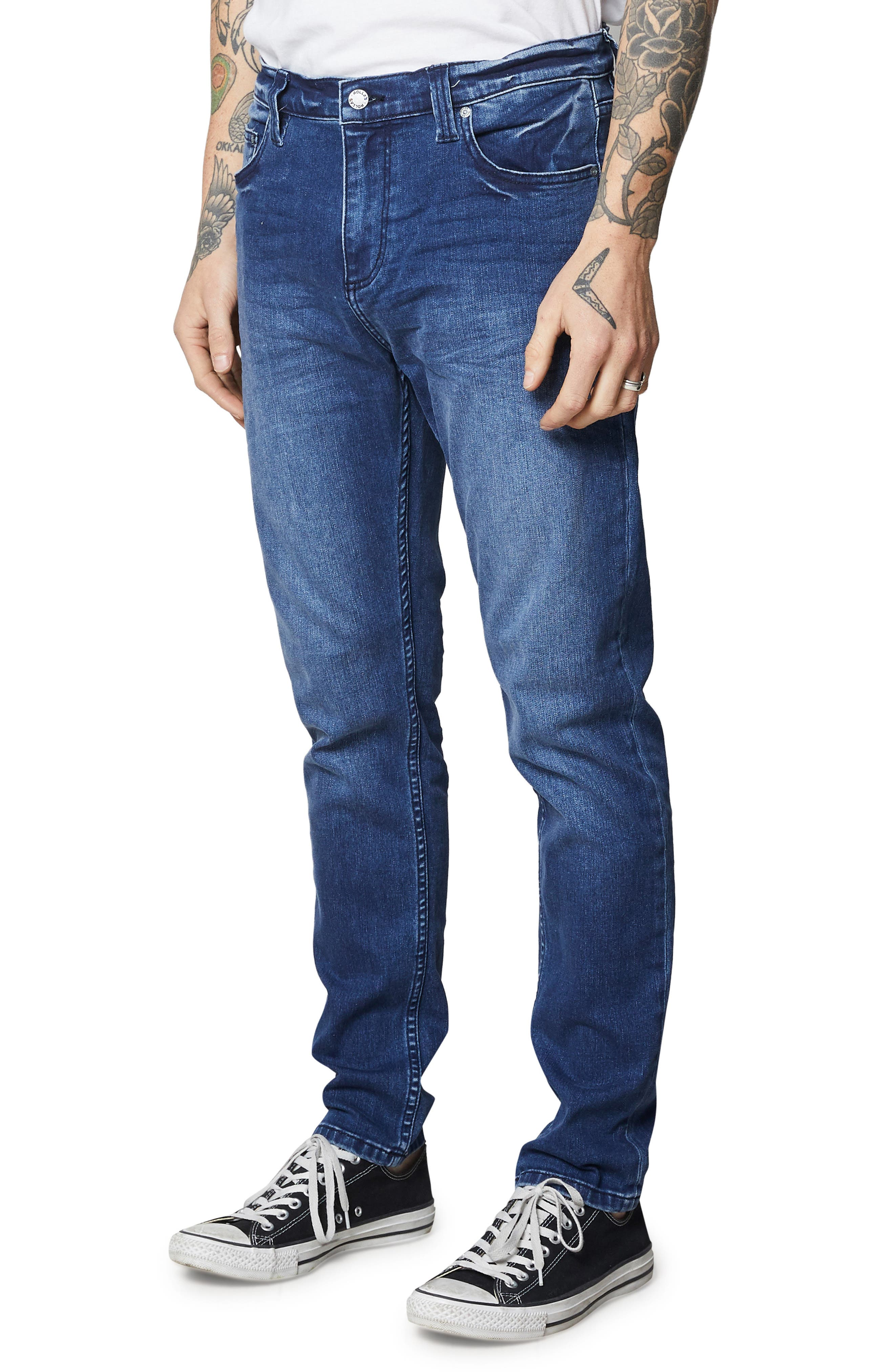ROLLA'S,                             Tim Slims Slim Fit Jeans,                             Alternate thumbnail 3, color,                             FOSTERS BLUE