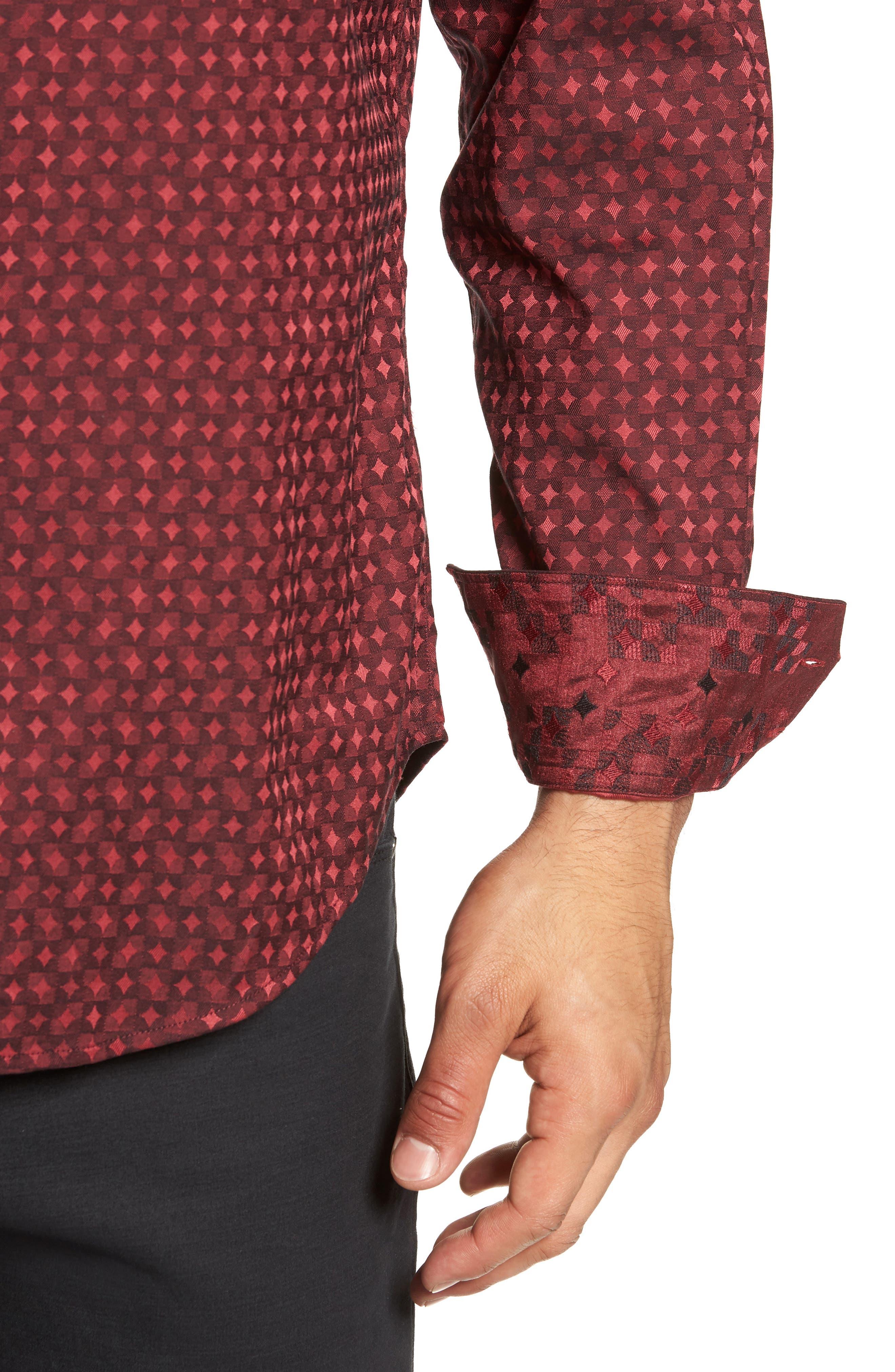 Harris Classic Fit Sport Shirt,                             Alternate thumbnail 2, color,                             BURGUNDY