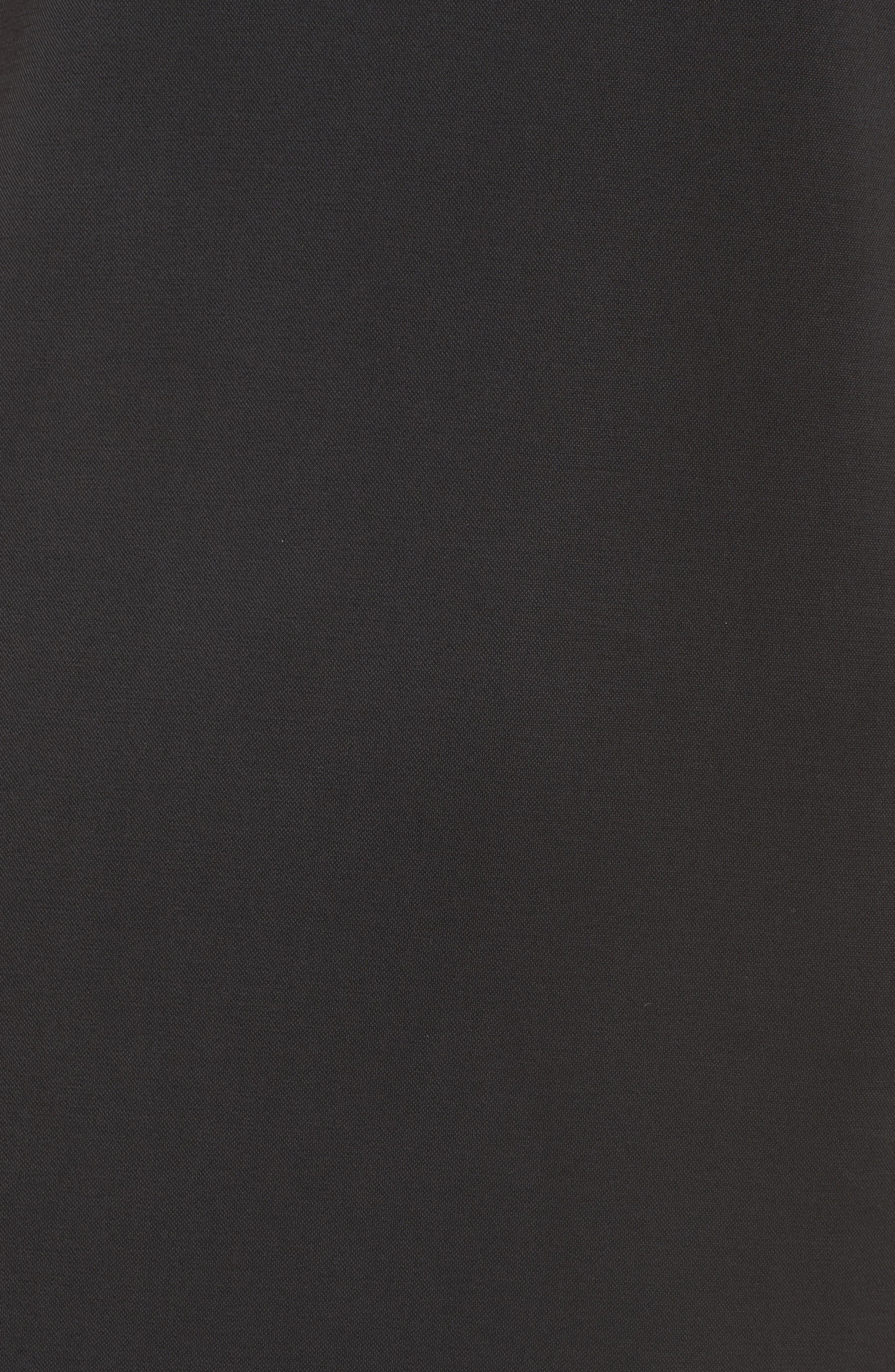 Jersey Midi Dress,                             Alternate thumbnail 6, color,                             001