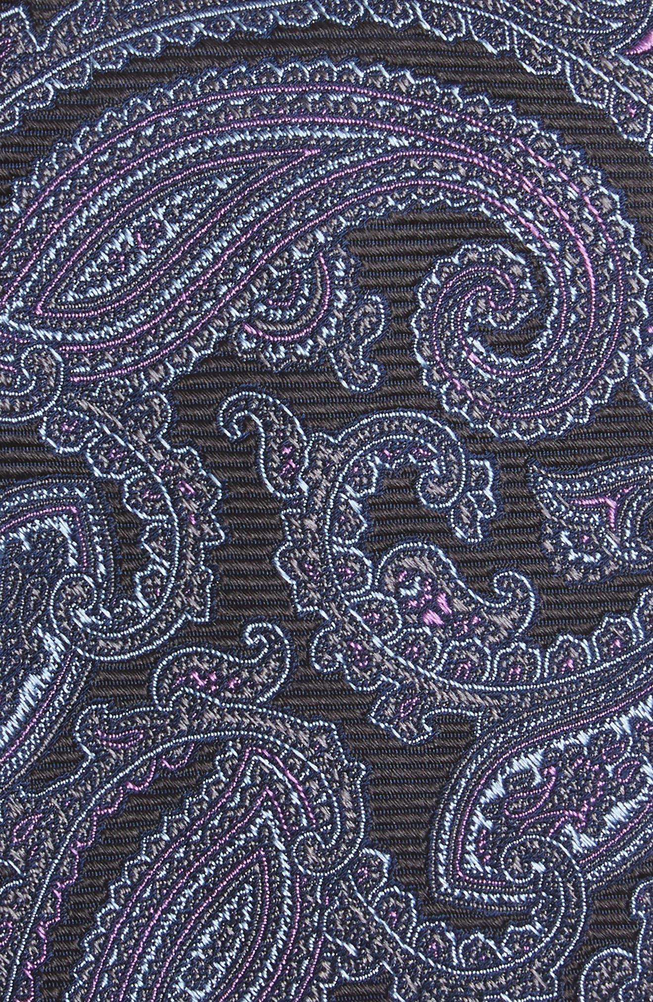 Brielle Paisley Silk Tie,                             Alternate thumbnail 2, color,                             001