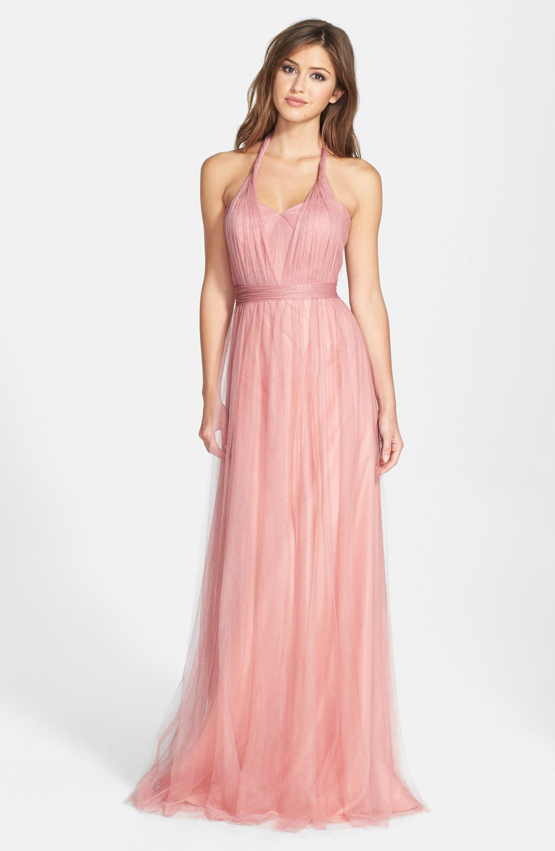 Annabelle Convertible Tulle Column Dress,                             Alternate thumbnail 182, color,
