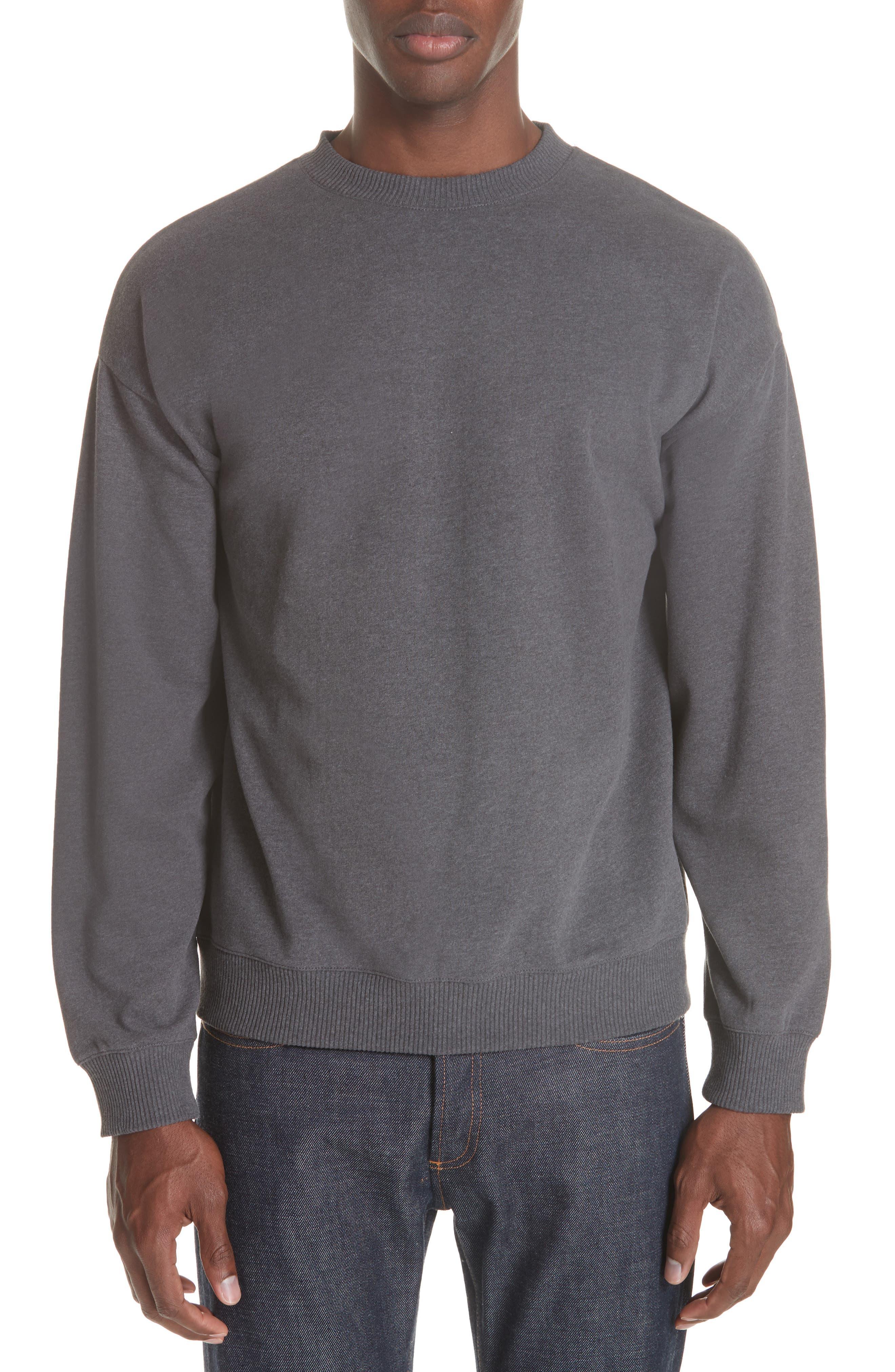 Roman Crewneck Sweatshirt,                         Main,                         color, ANTHRACITE LAD