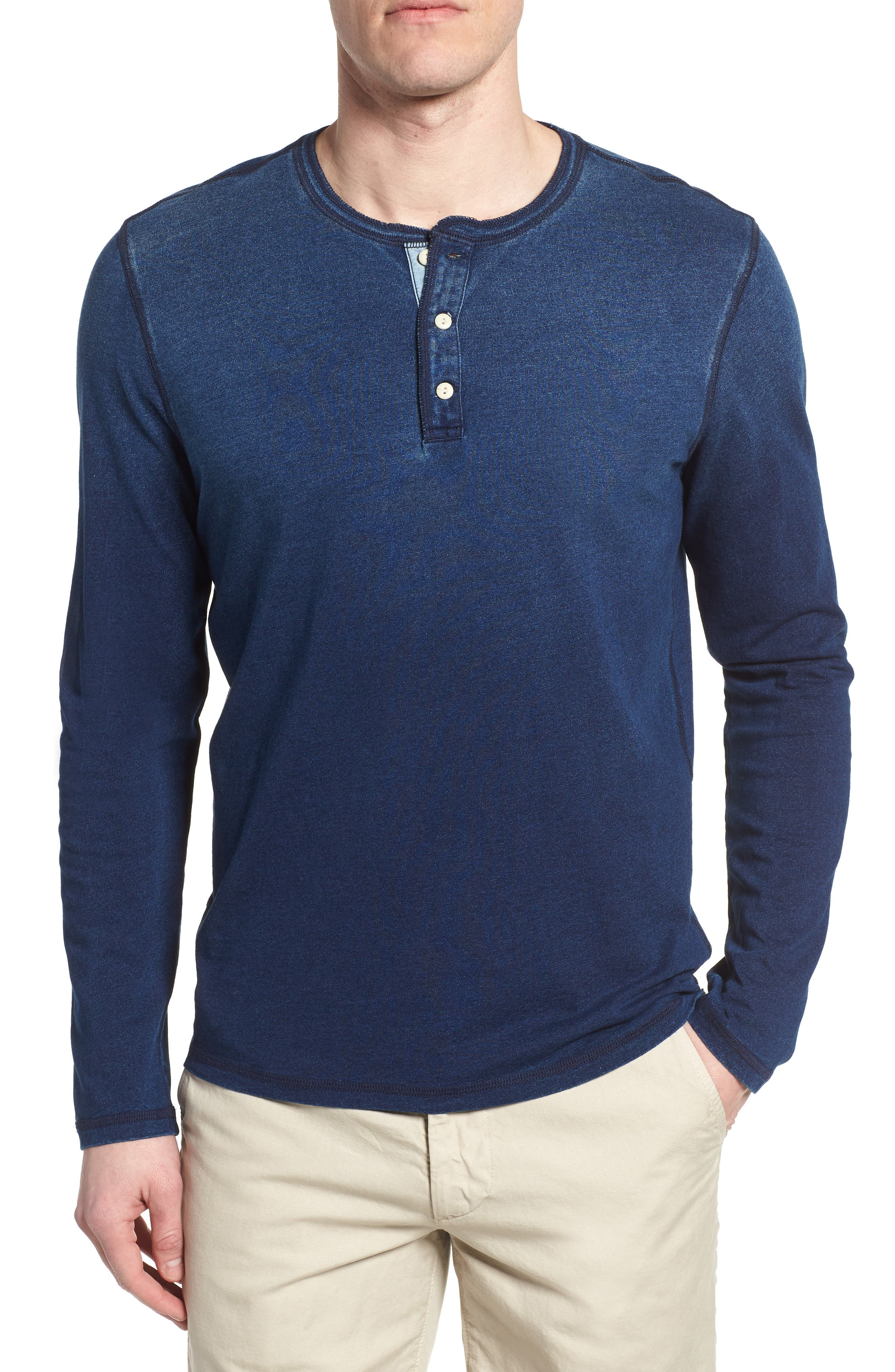 Clyde Slim Fit Cotton Henley,                         Main,                         color, 400