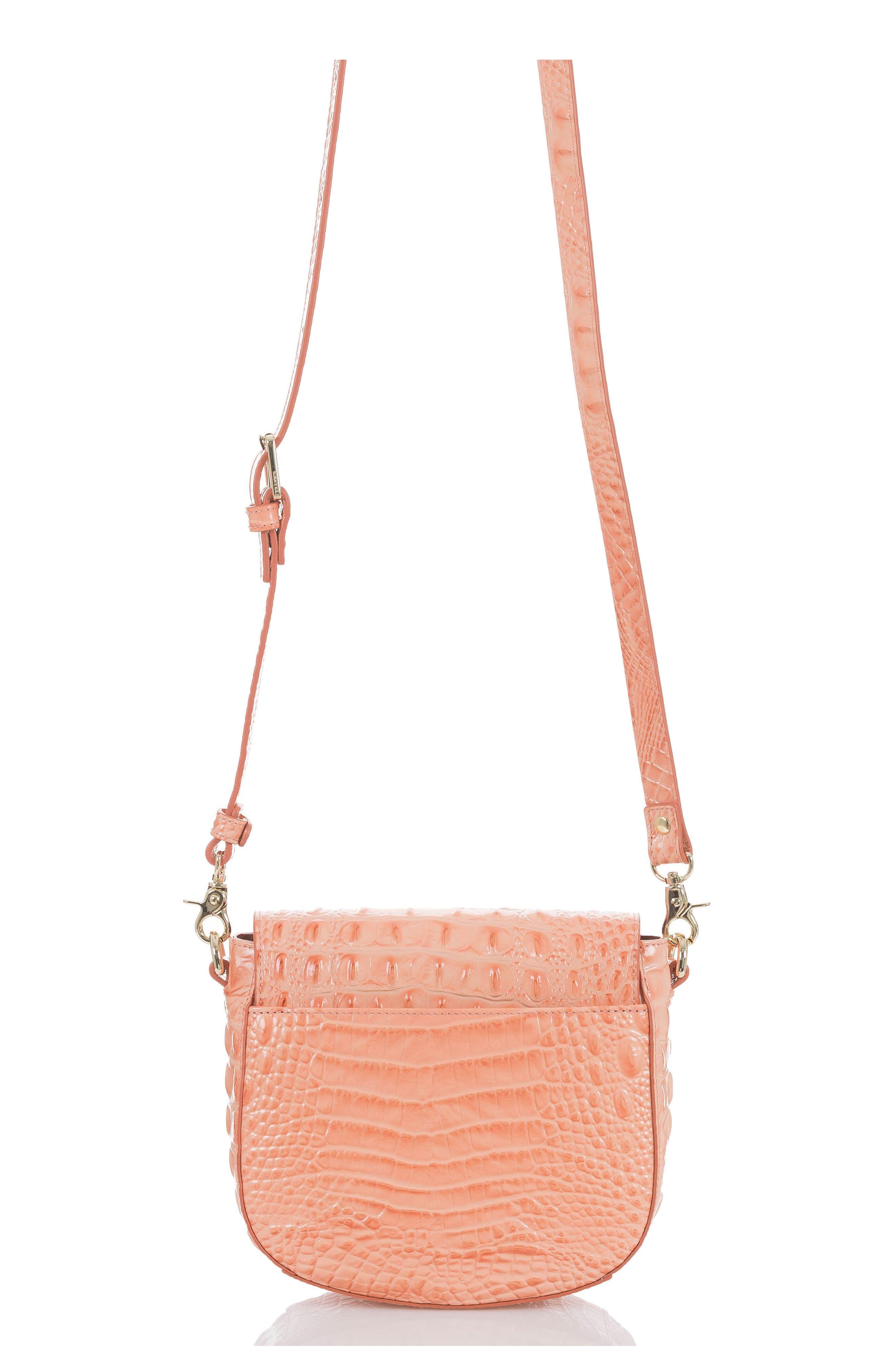 Mini Sonny Leather Crossbody Bag,                             Alternate thumbnail 2, color,                             CANTALOUPE