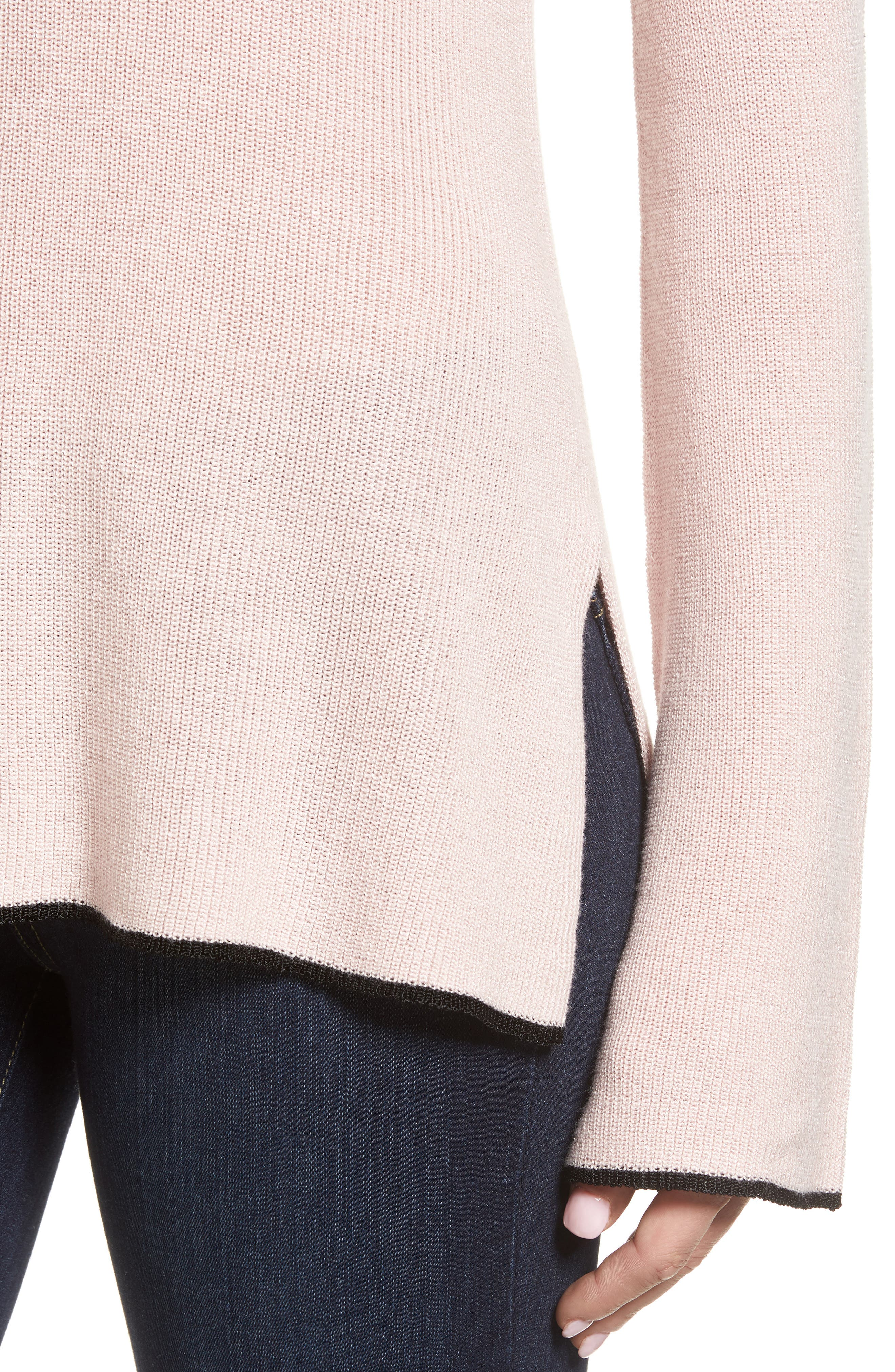 Tipped Bell Sleeve Sweater,                             Alternate thumbnail 28, color,