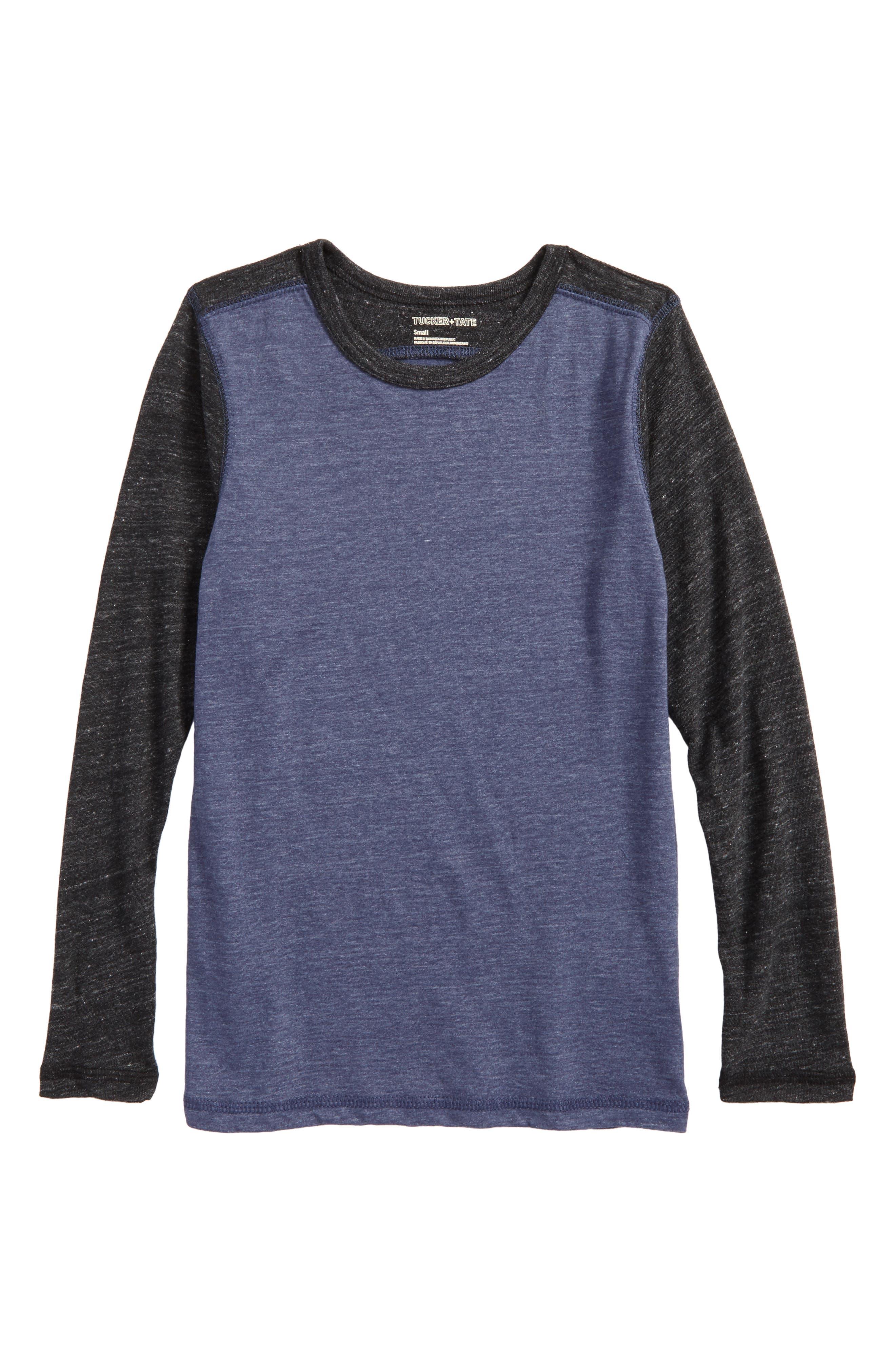 Colorblock Sleeve T-Shirt,                             Main thumbnail 2, color,