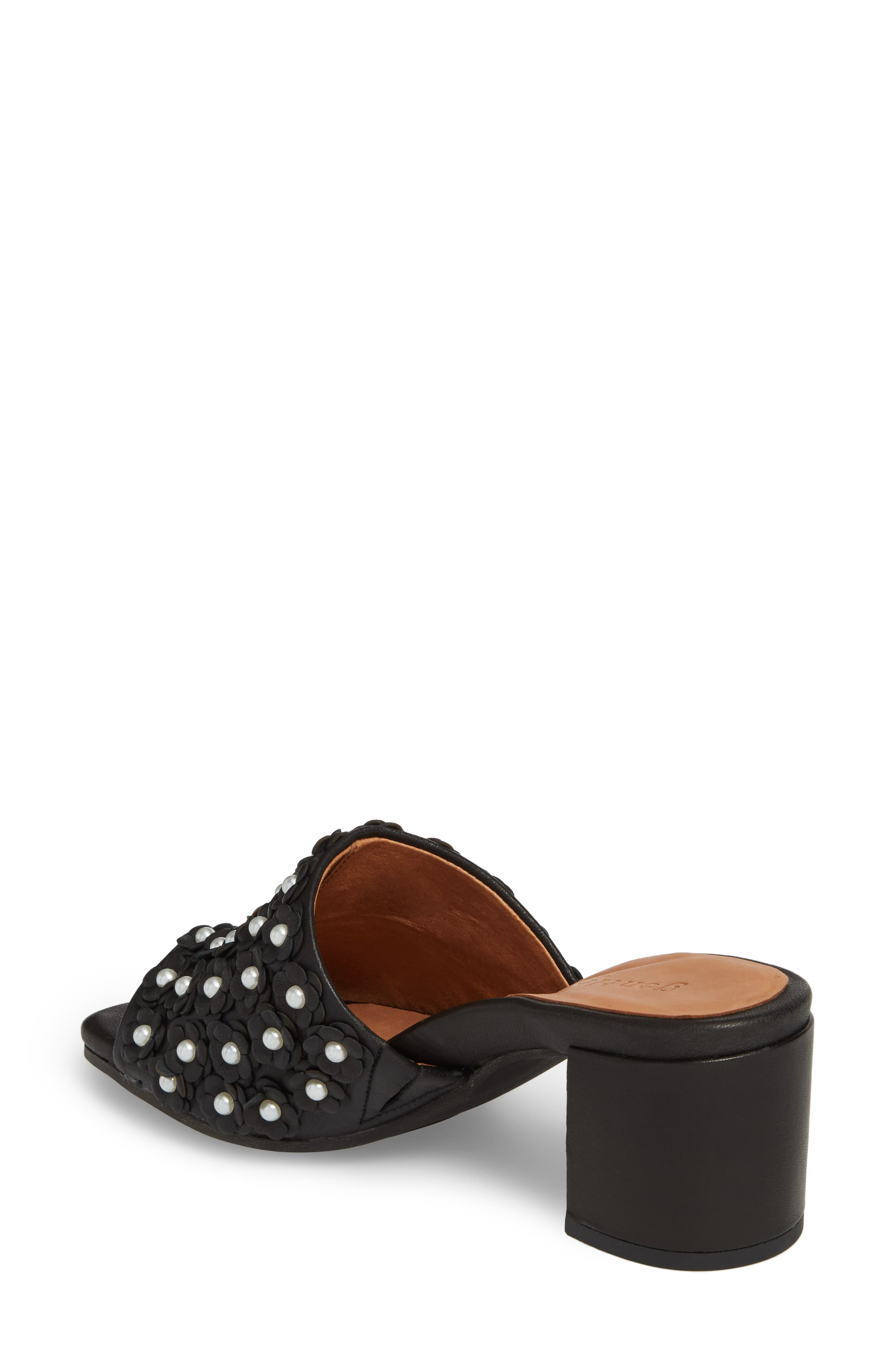 by Kenneth Cole Chantel Sandal,                             Alternate thumbnail 2, color,                             BLACK FLOWERS LEATHER