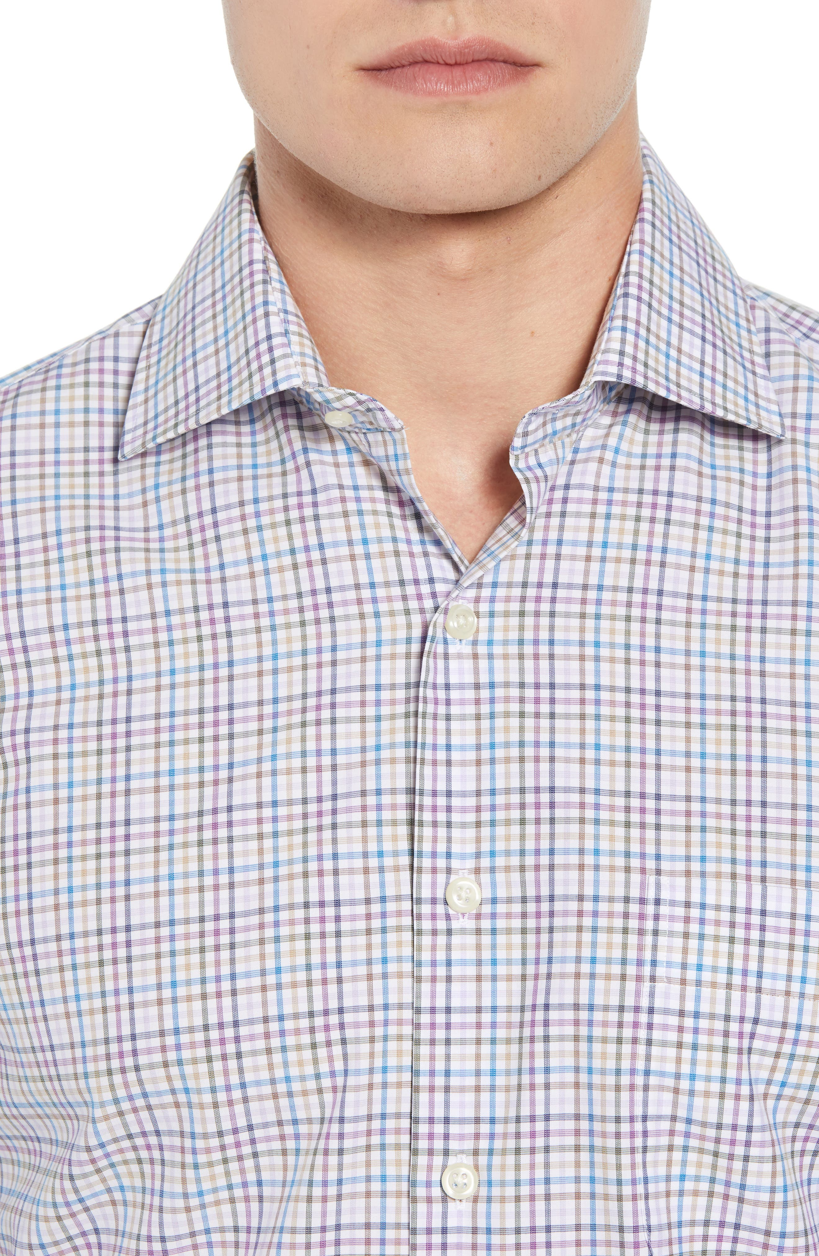 Whittier Heights Check Sport Shirt,                             Alternate thumbnail 2, color,                             BEET