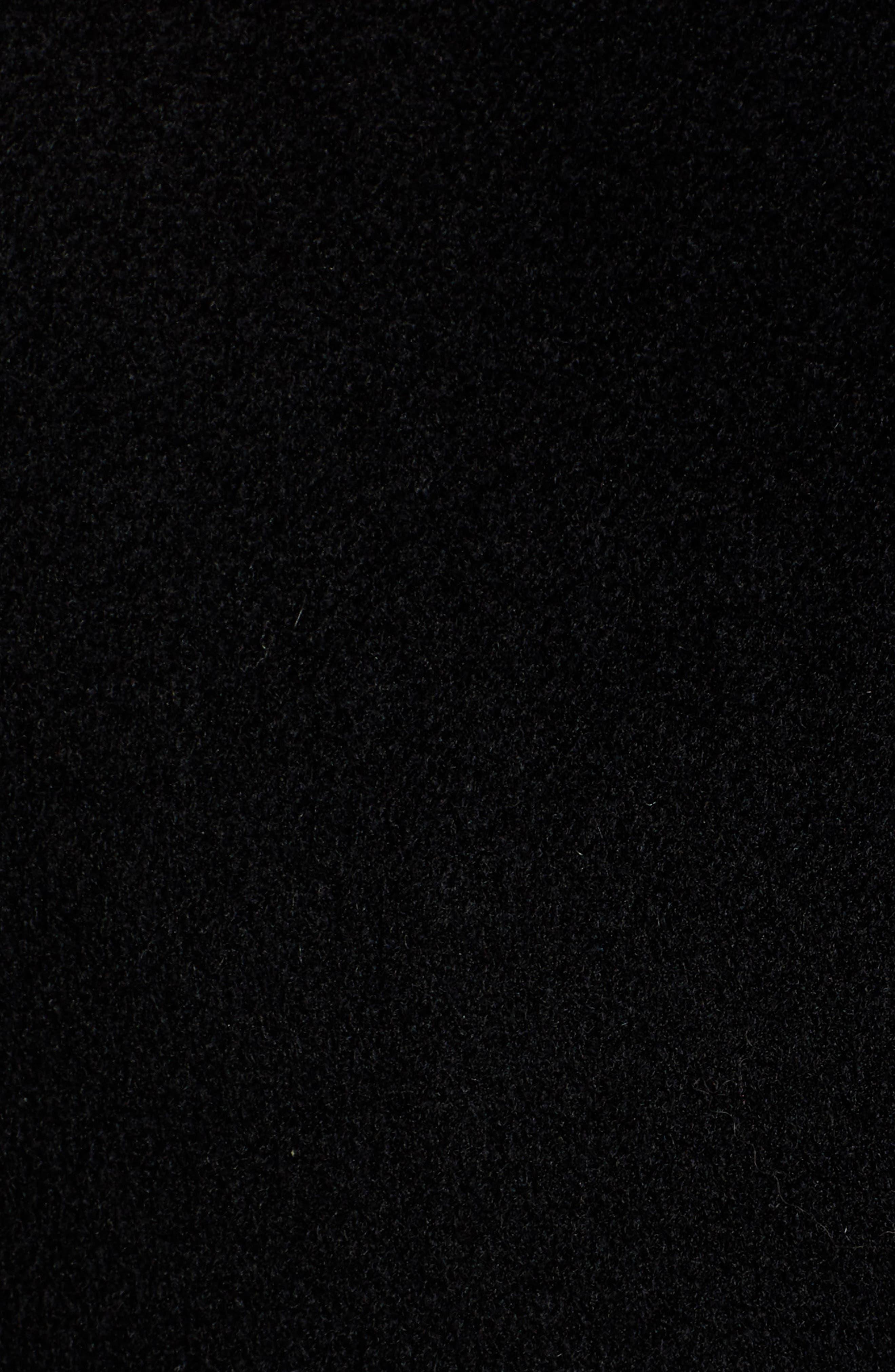 Sara Ruffle Cuff Wool Blend Coat,                             Alternate thumbnail 7, color,                             BLACK