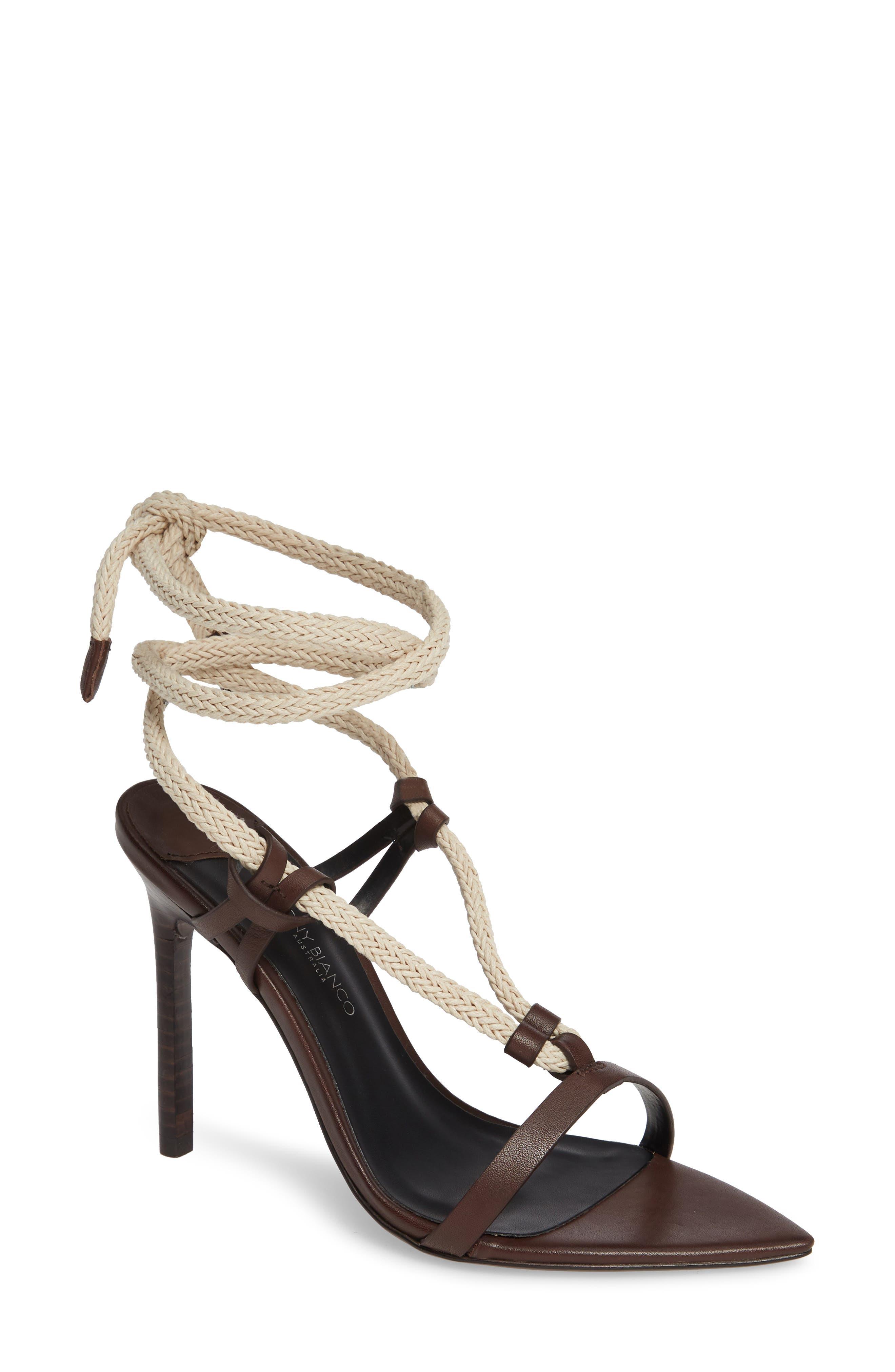 Manu Roped Sandal in Choc Como Leather