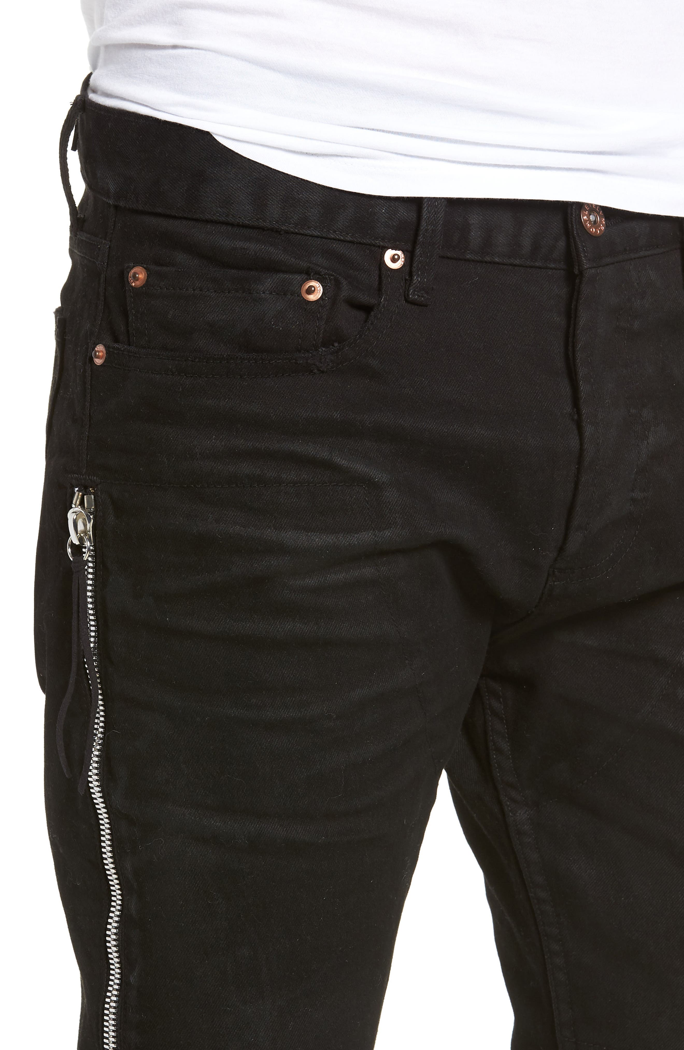 Trafford Skinny Fit Jeans,                             Alternate thumbnail 4, color,                             HERITAGE WAX