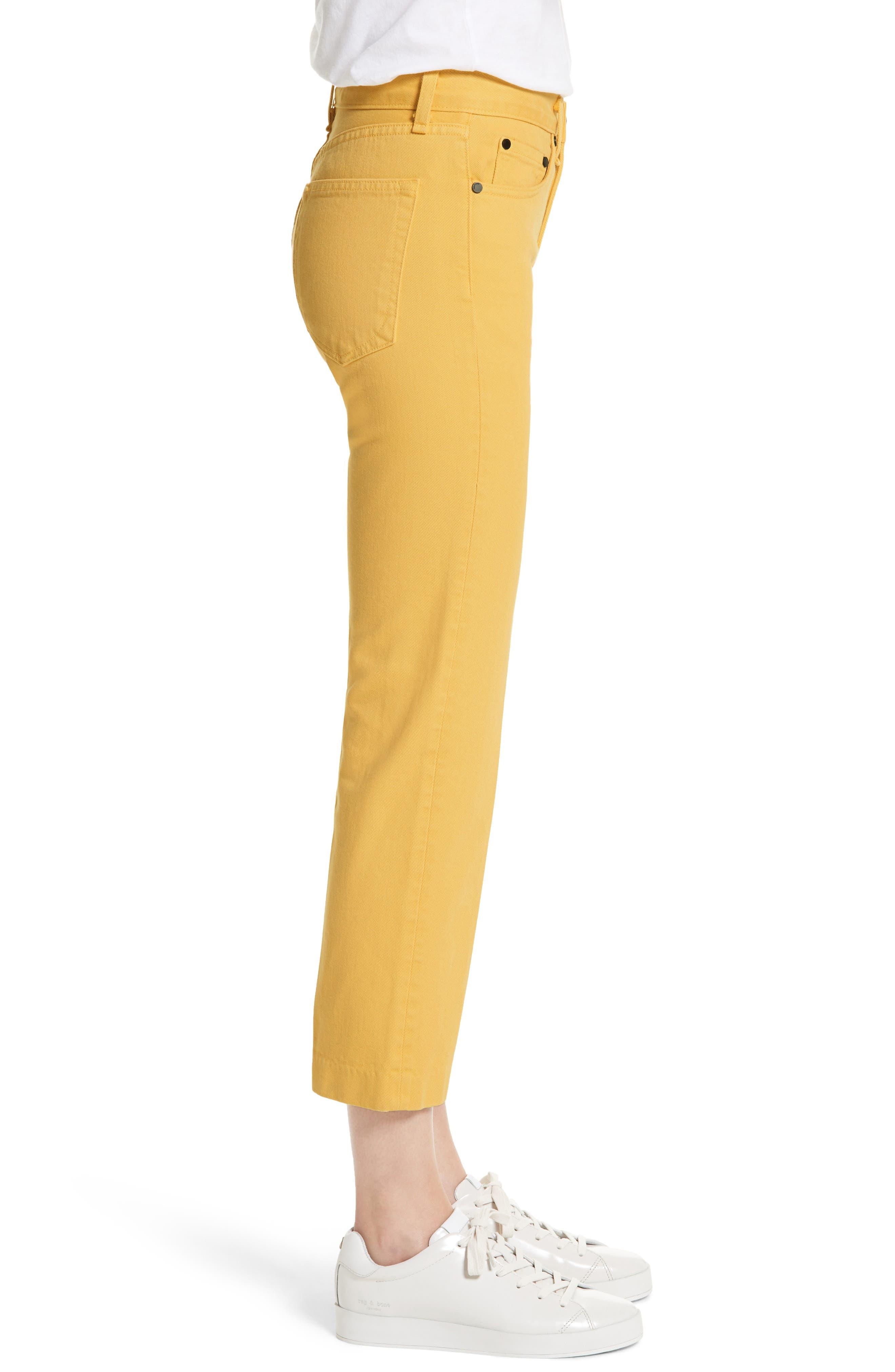 Straight Leg Crop Jeans,                             Alternate thumbnail 3, color,                             730
