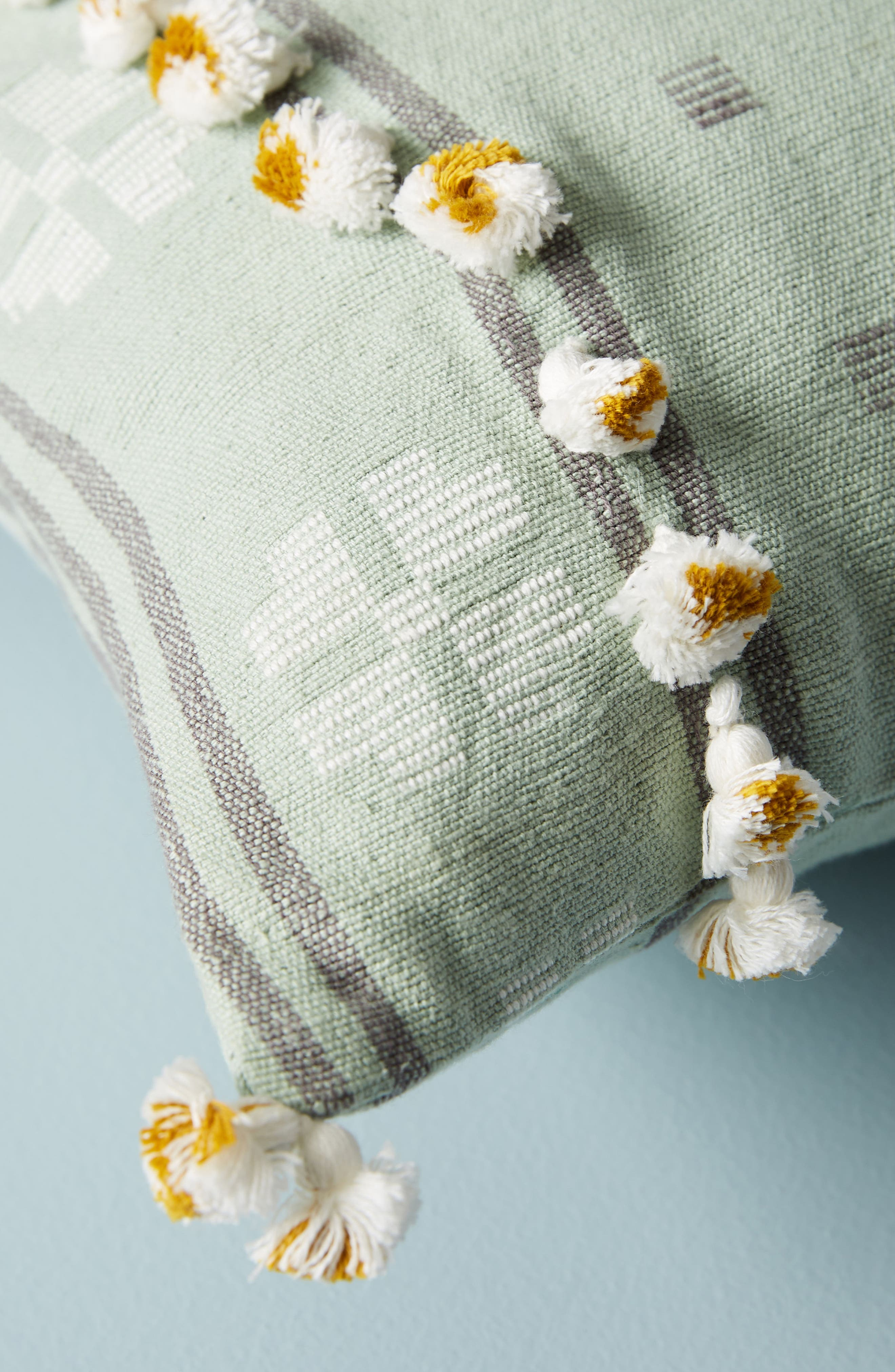 Araya Accent Pillow,                             Alternate thumbnail 3, color,                             OCHRE/ TURQUOISE