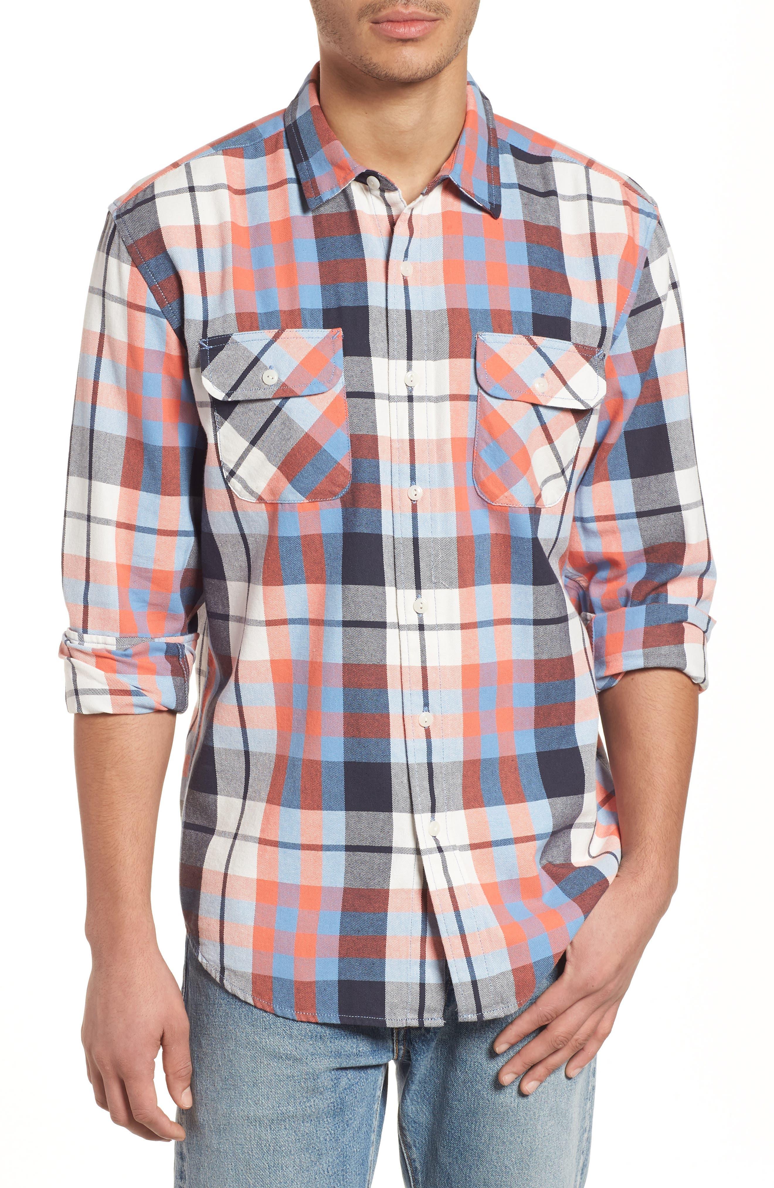 Beach Shack Twill Shirt,                         Main,                         color, 424