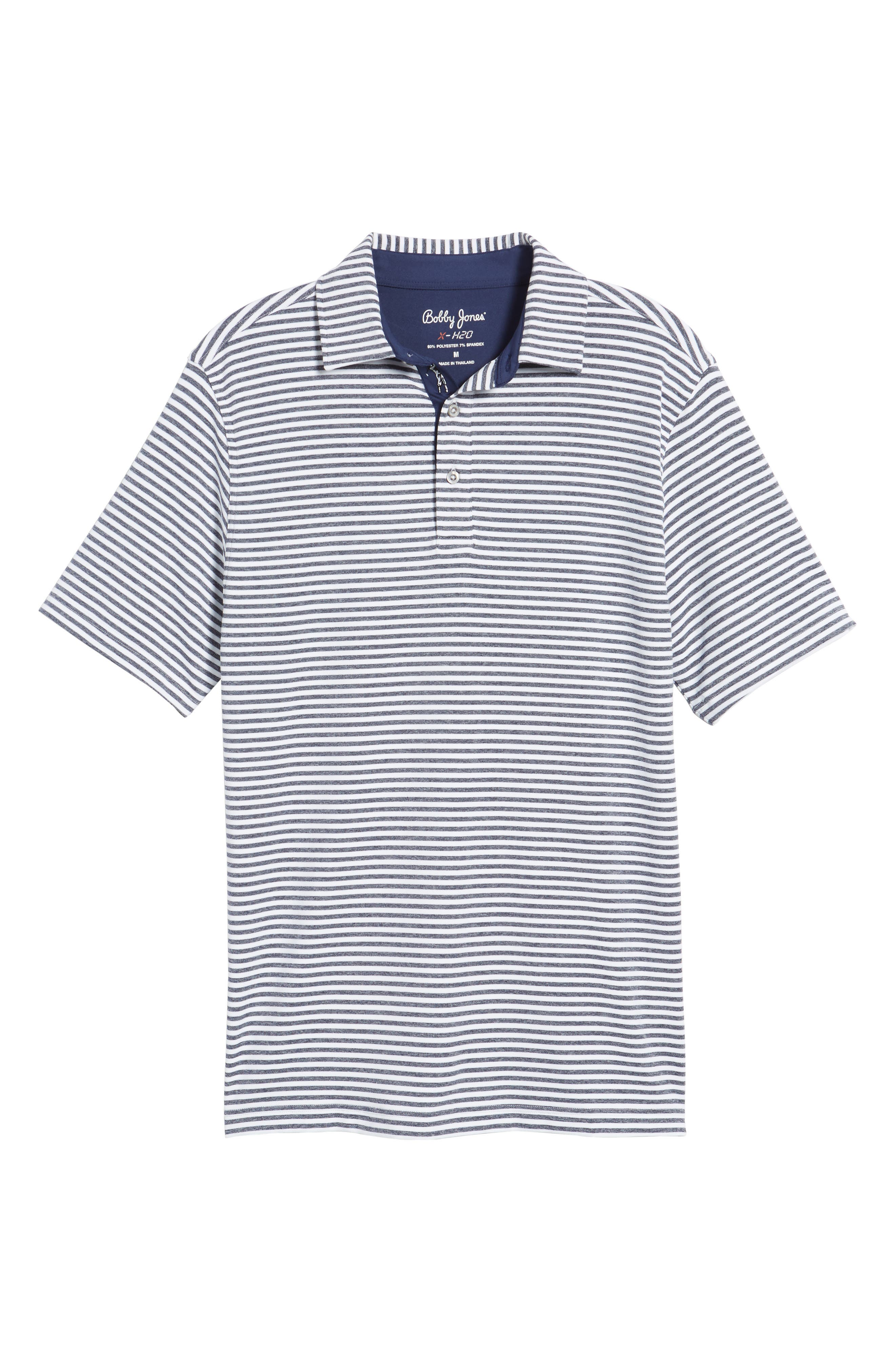 XH2O Tranquil Stripe Jersey Polo,                             Alternate thumbnail 6, color,                             100