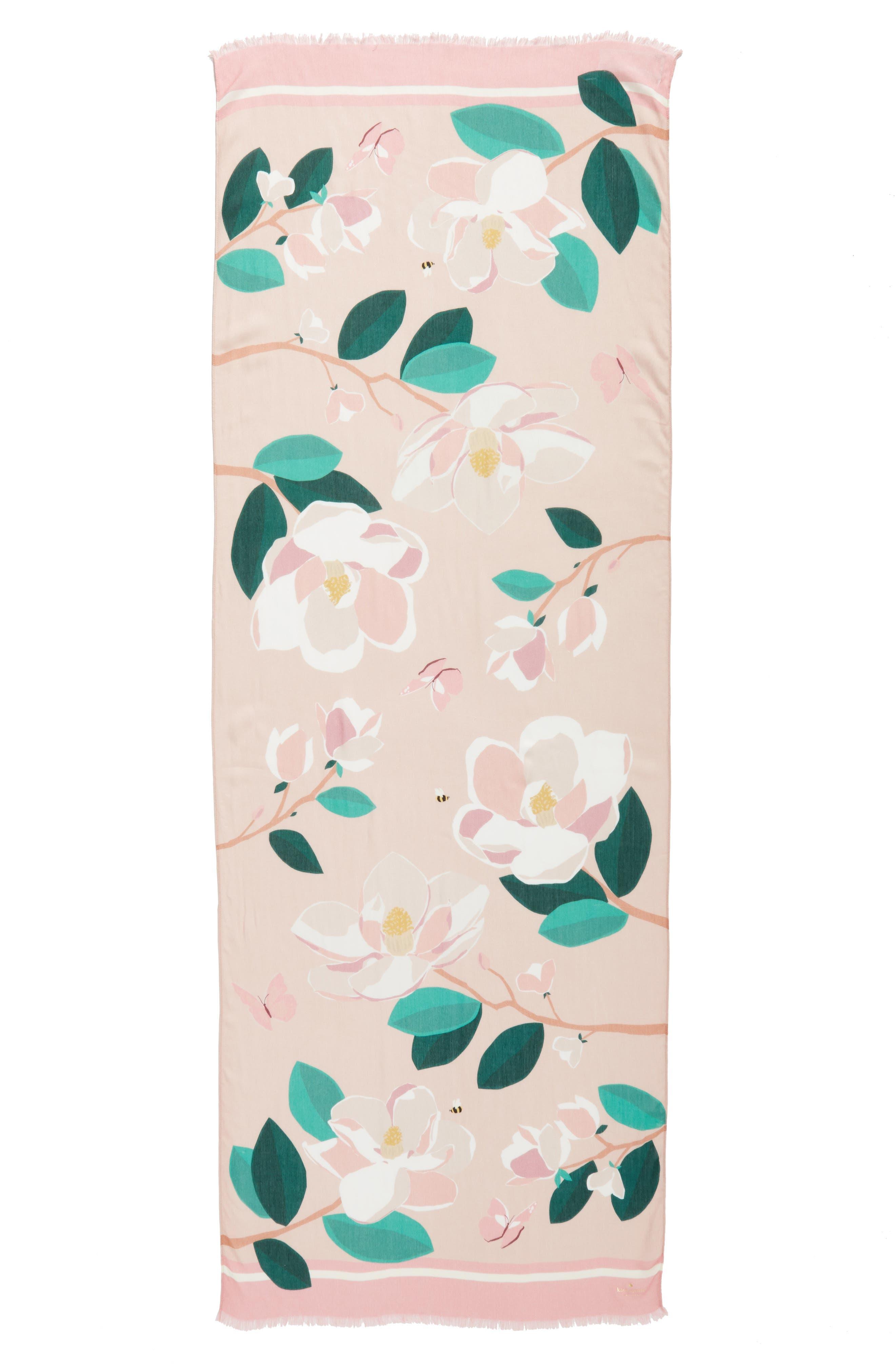 magnolia scarf,                             Alternate thumbnail 3, color,                             698