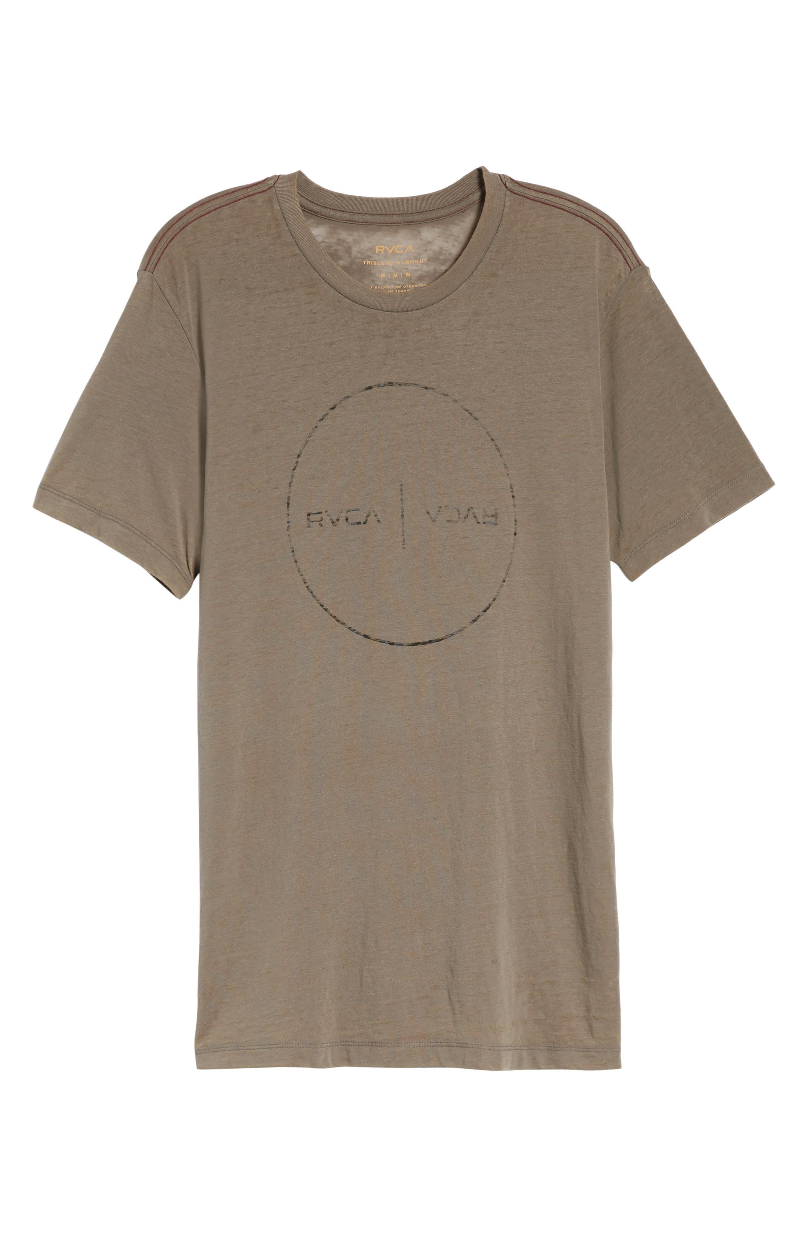 Flipped Perimeter Burnout T-Shirt,                             Alternate thumbnail 17, color,