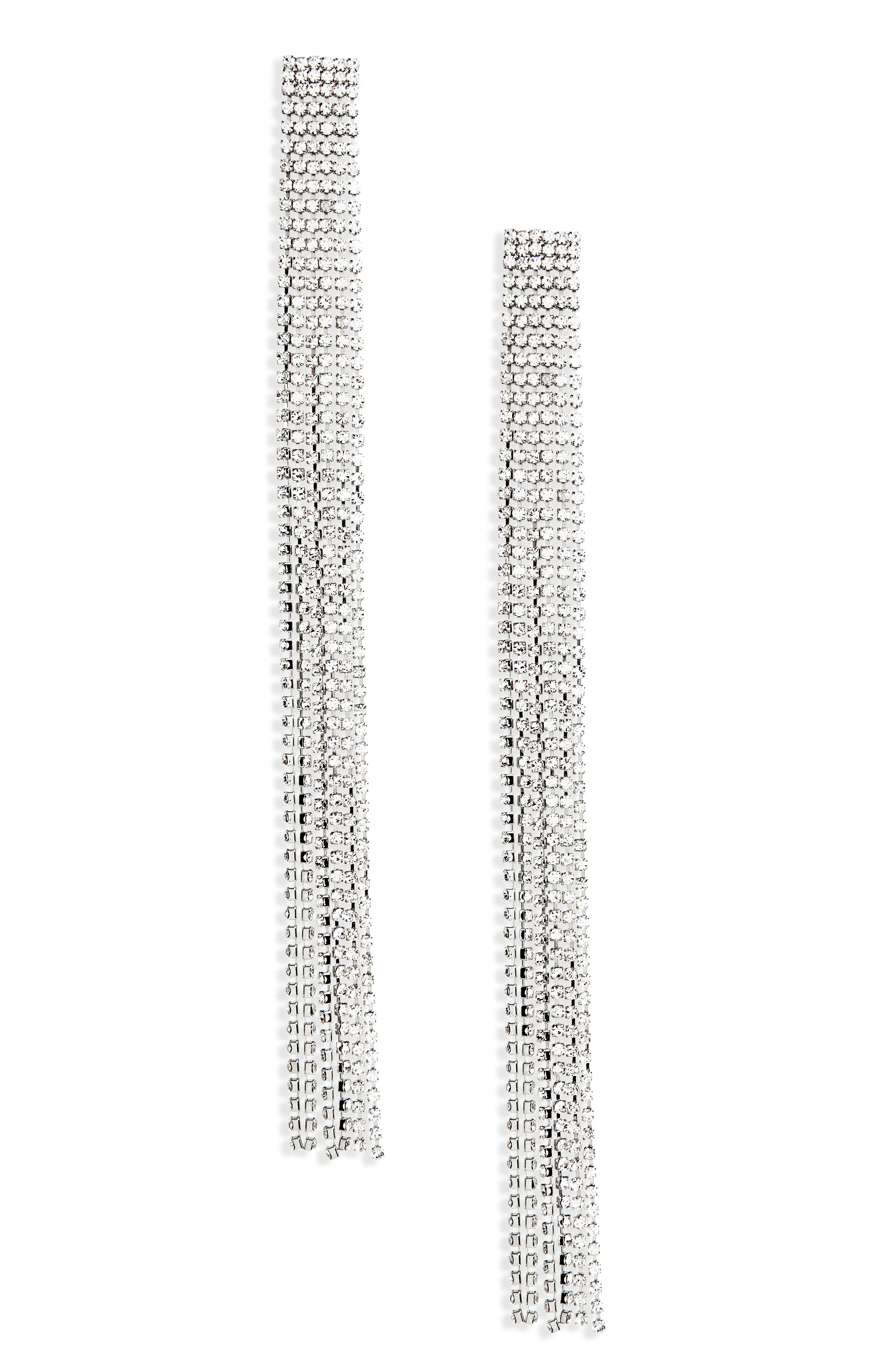 Long Crystal Tassel Earrings,                             Main thumbnail 1, color,                             040