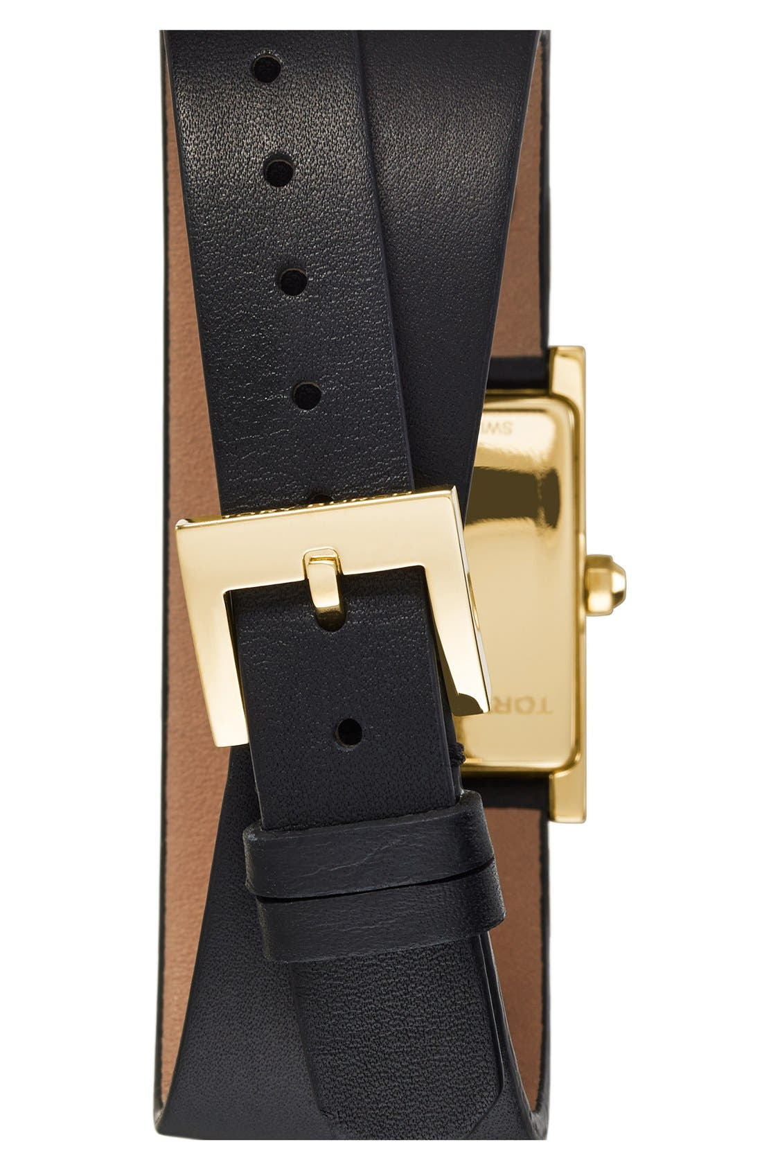 'Buddy Signature' Rectangular Wrap Leather Strap Watch, 17mm x 31mm,                             Alternate thumbnail 2, color,                             001
