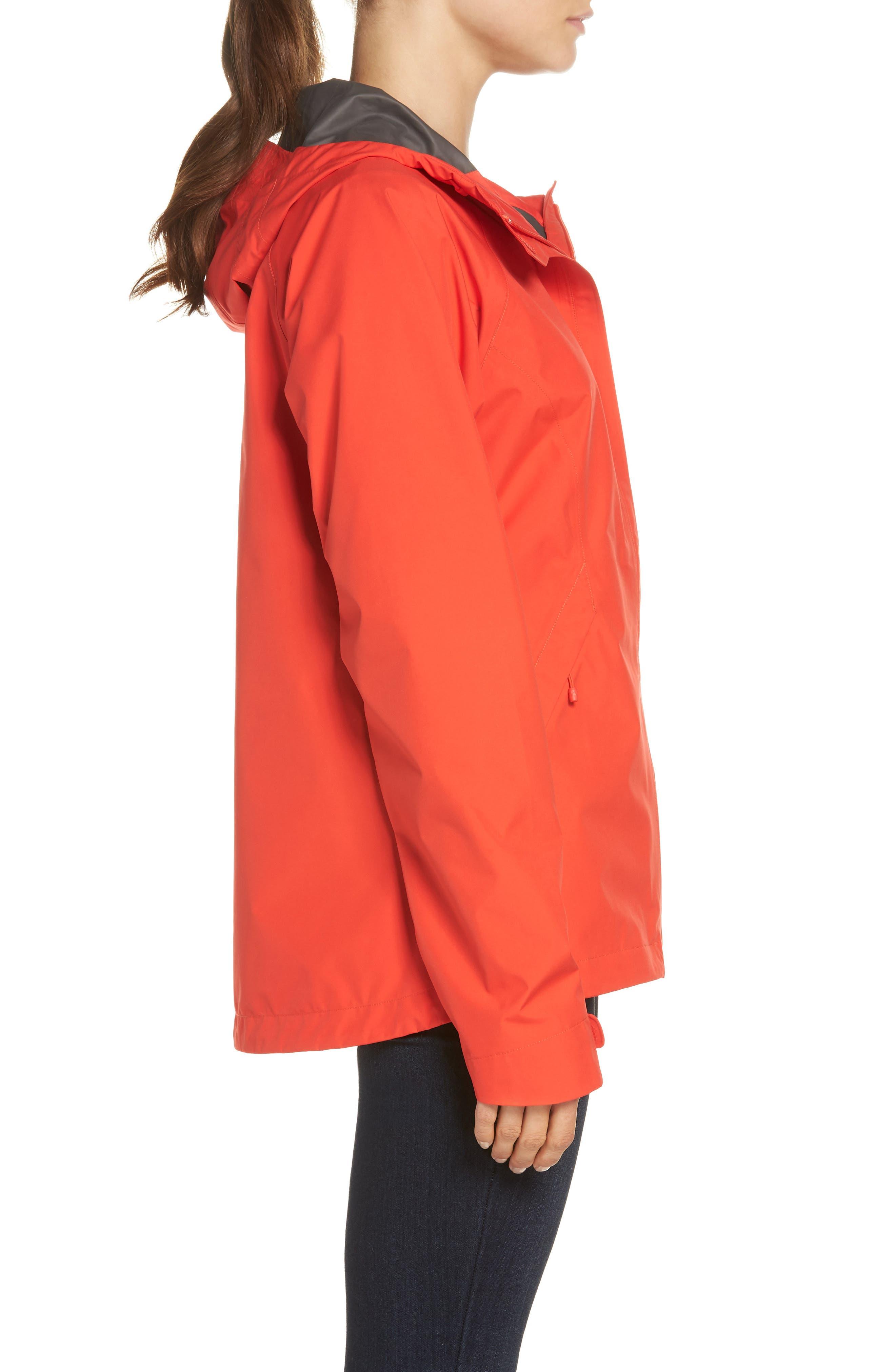 'Dryzzle' Hooded Jacket,                             Alternate thumbnail 3, color,                             JUICY RED