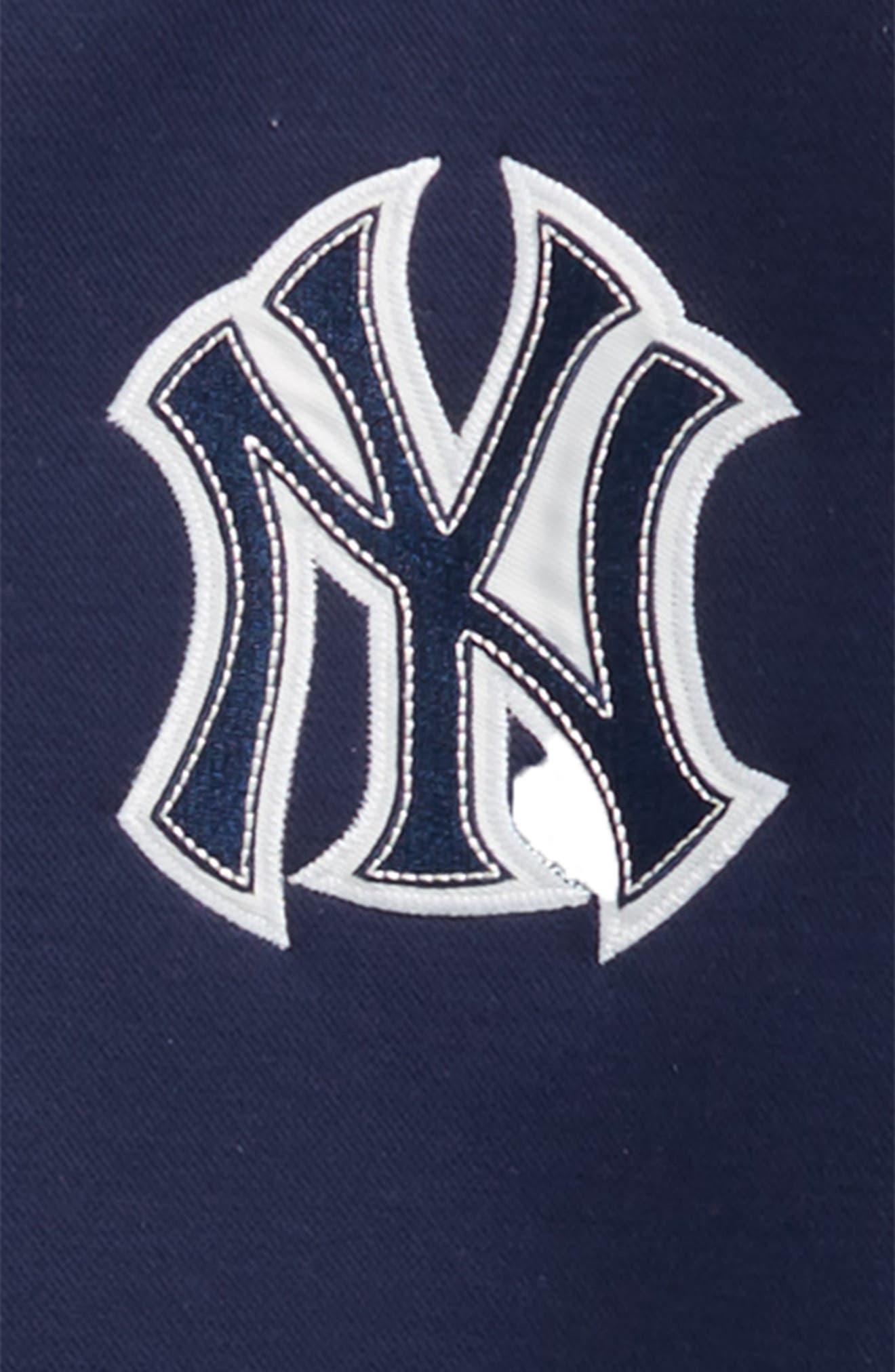 Classical New York Yankees Knit Varsity Jacket,                             Alternate thumbnail 2, color,