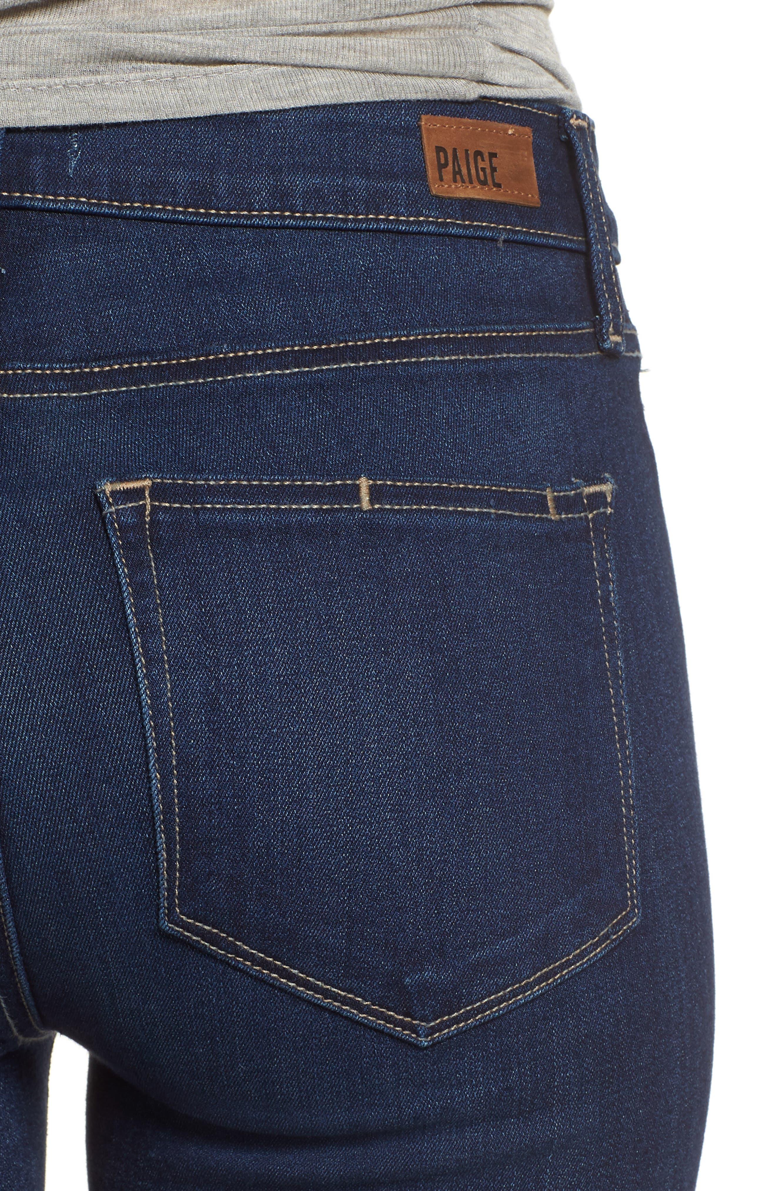 Hoxton High Waist Ankle Skinny Jeans,                             Alternate thumbnail 4, color,                             400