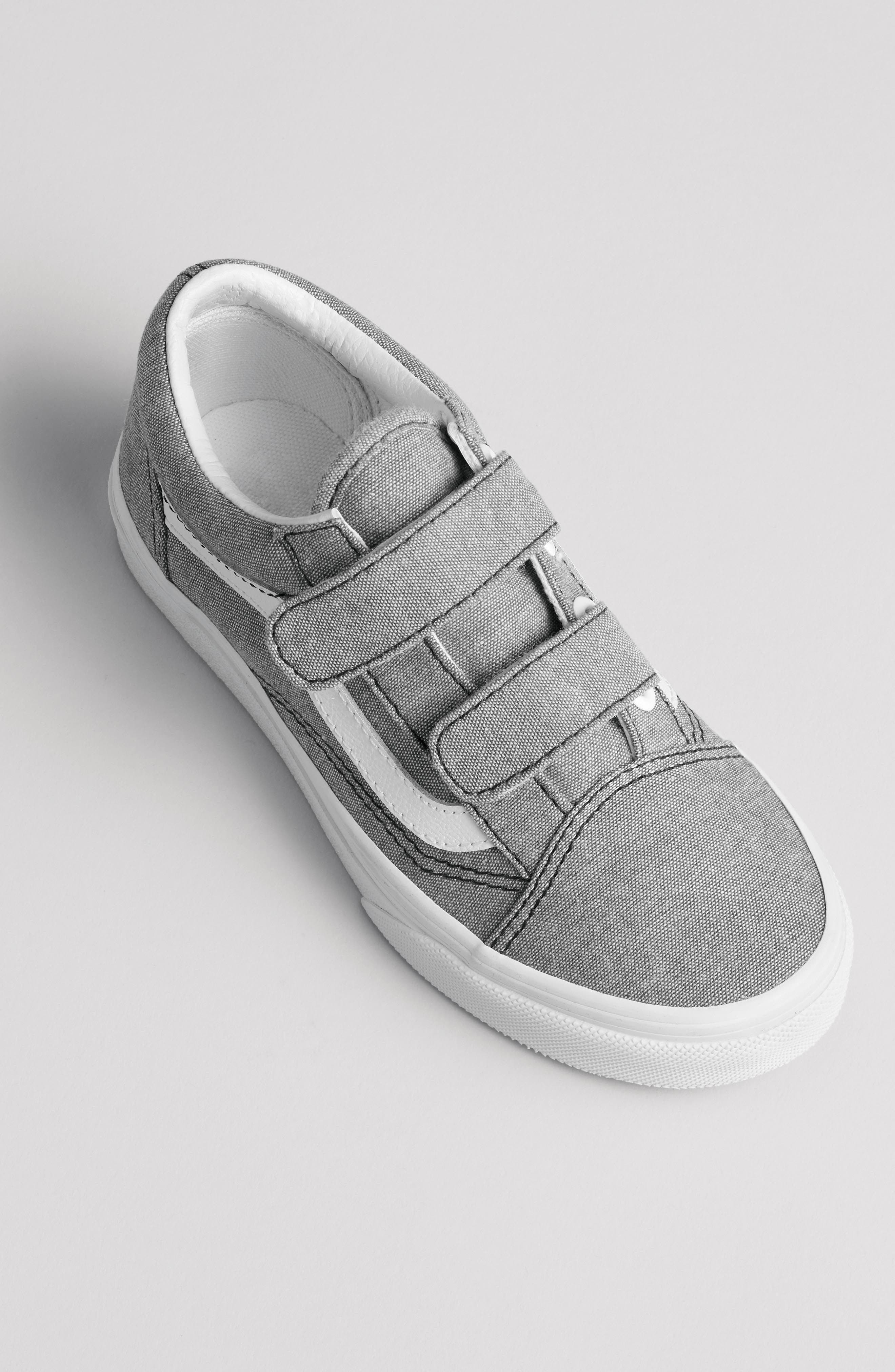 'Old Skool' Sneaker,                             Alternate thumbnail 7, color,                             OXFORD GRAY TRUE WHITE