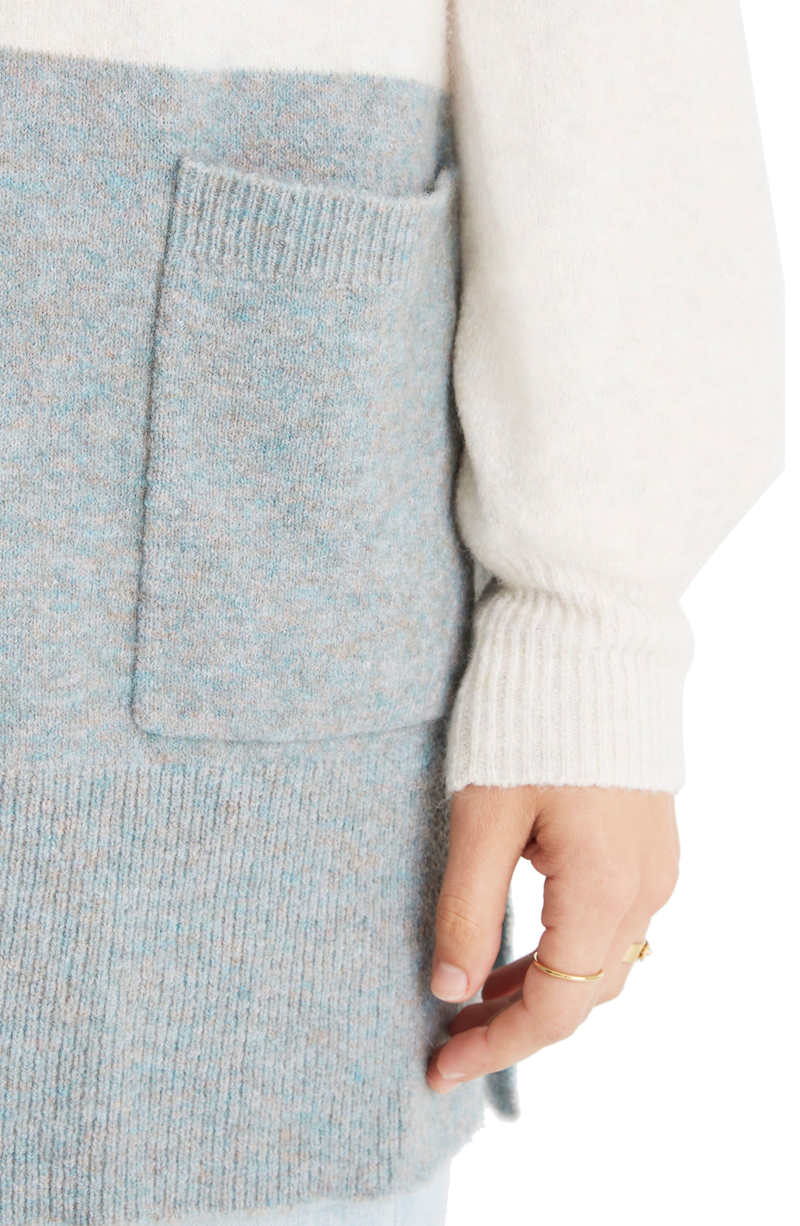 Kent Colorblock Cardigan Sweater,                             Alternate thumbnail 4, color,                             HEATHER RIVER