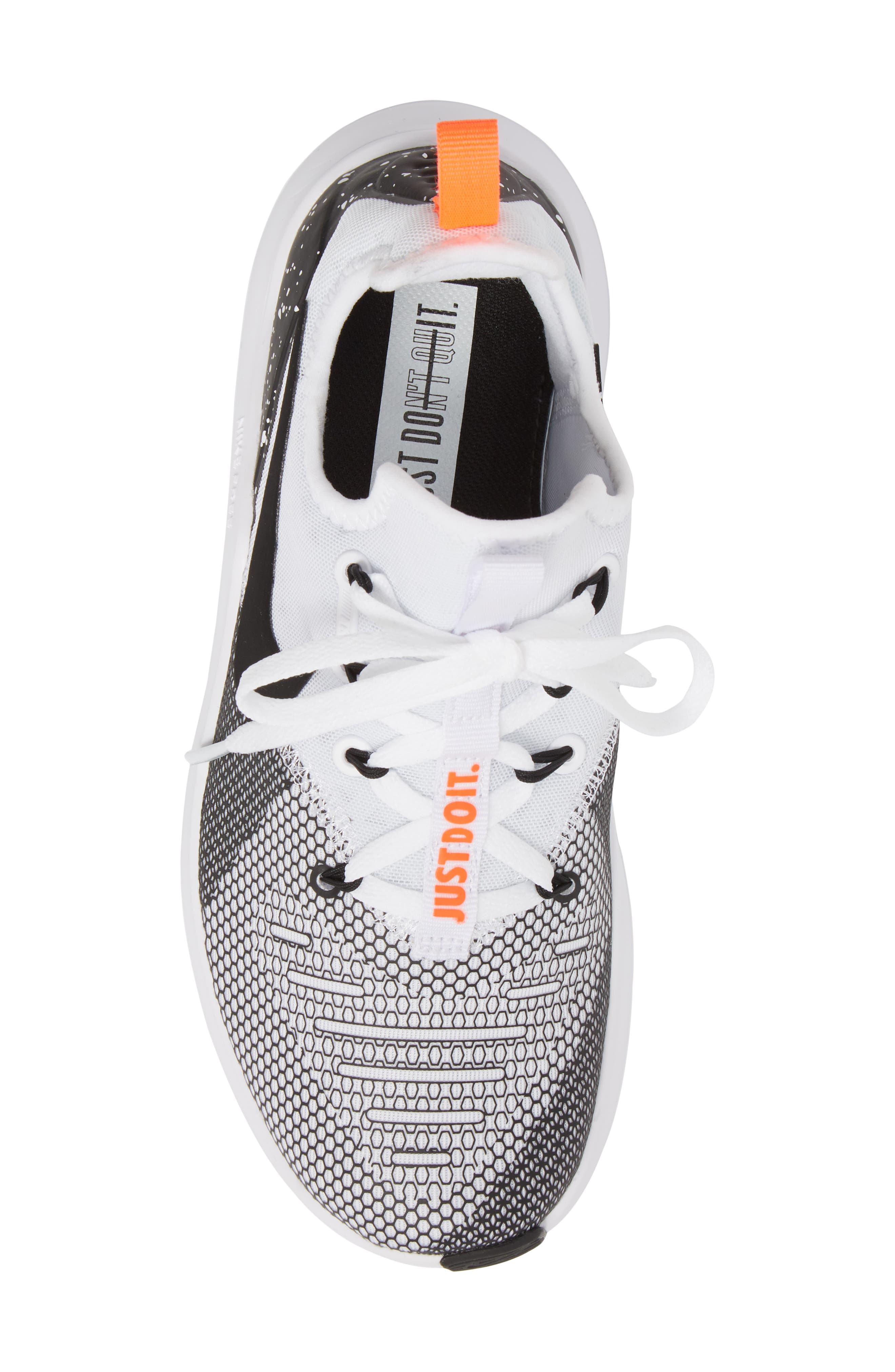 Free TR8 Training Shoe,                             Alternate thumbnail 5, color,                             WHITE/ BLACK/ TOTAL CRIMSON