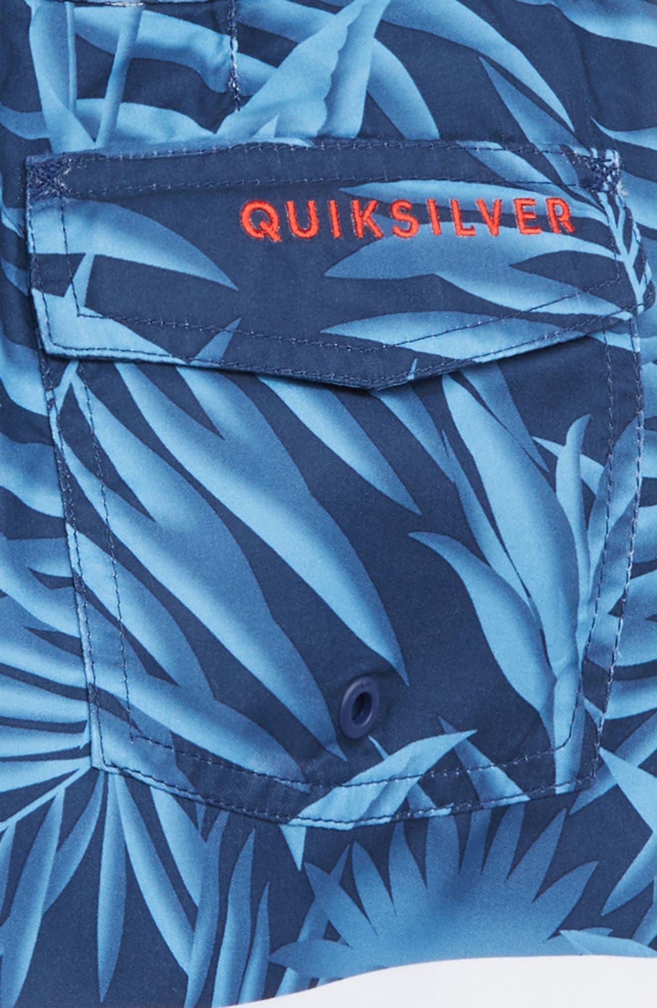 Slab Island Print Board Shorts,                             Alternate thumbnail 3, color,                             MEDIEVEL BLUE