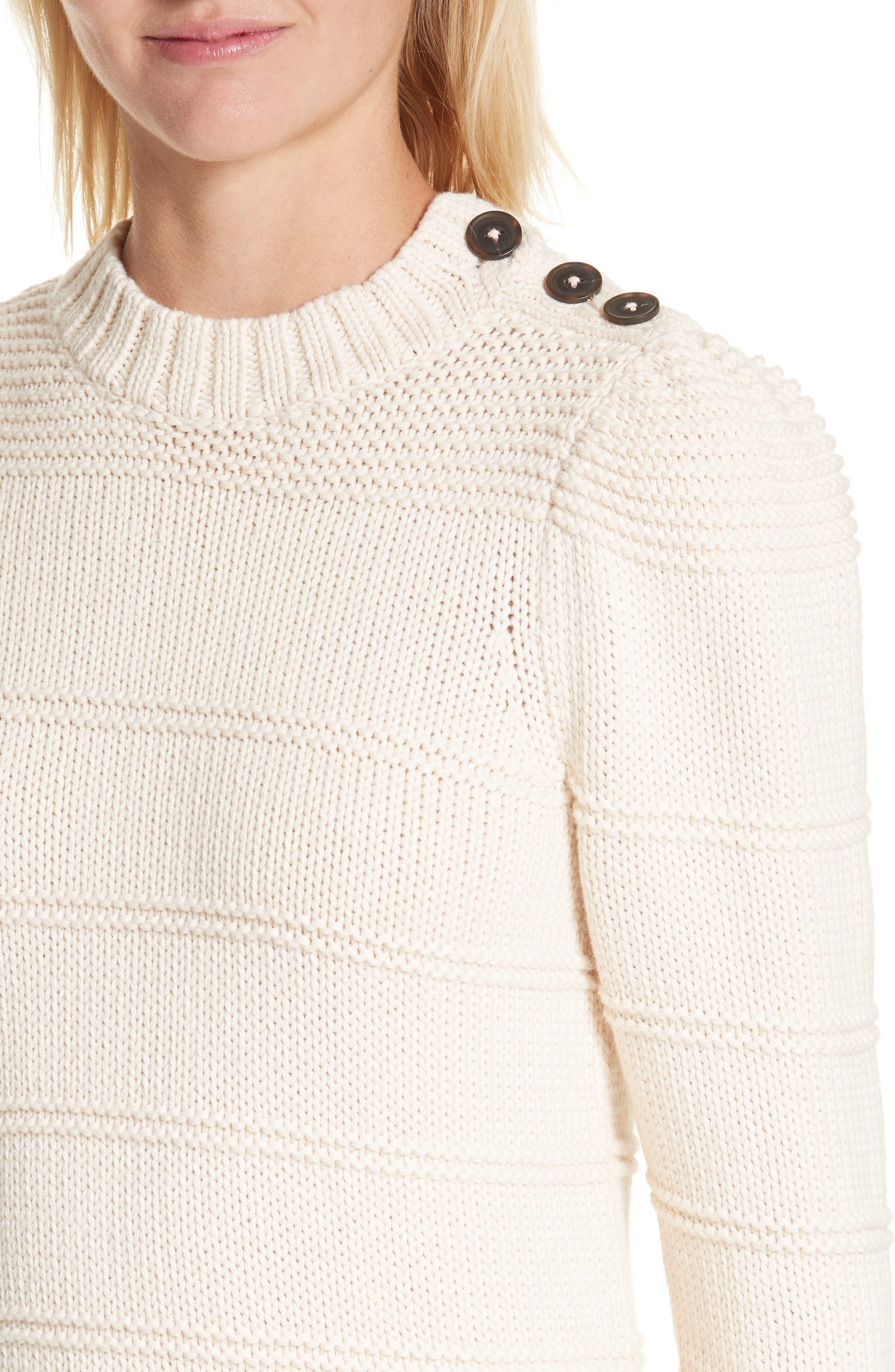 Stripe Cotton & Merino Wool Sweater,                             Alternate thumbnail 8, color,