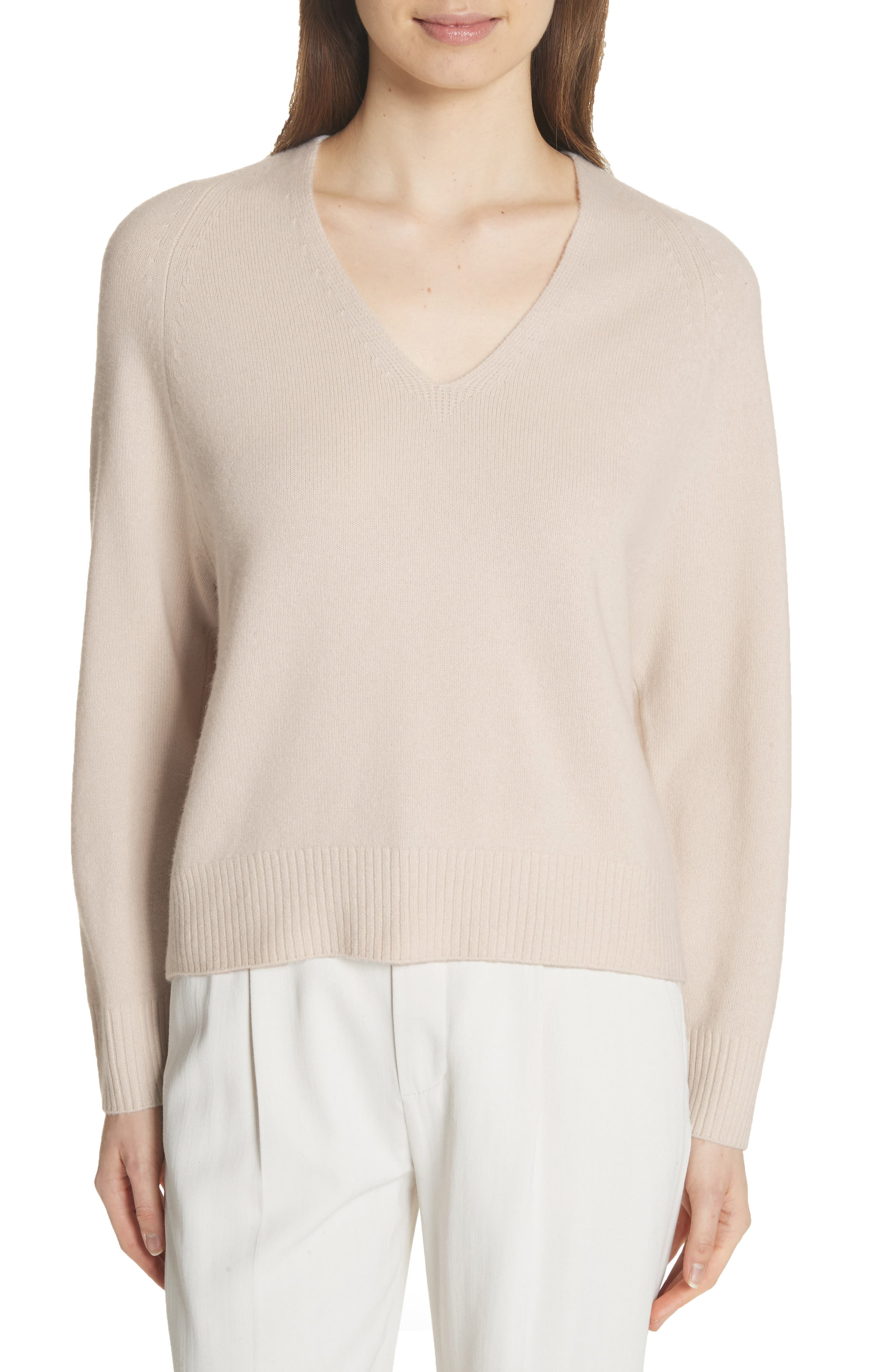 Cashmere Raglan Sleeve Sweater,                             Main thumbnail 1, color,                             SANDSTONE