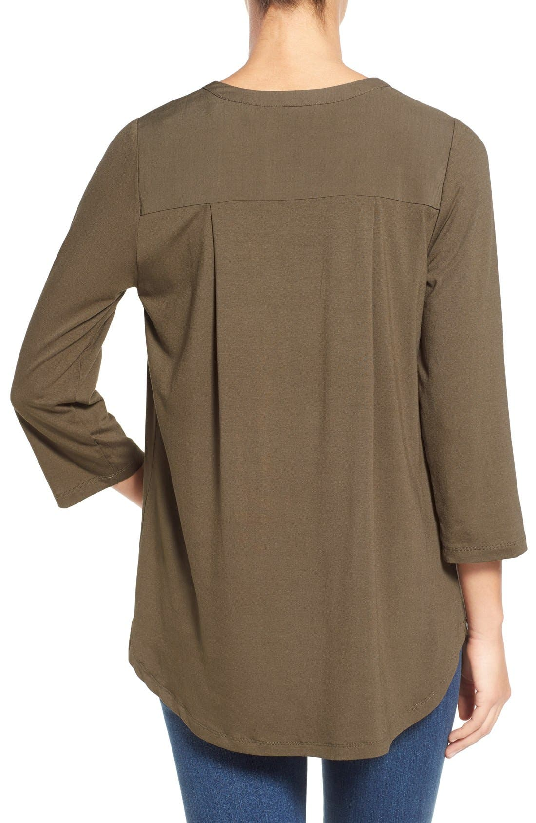 Mixed Media V-Neck Tunic,                             Alternate thumbnail 113, color,