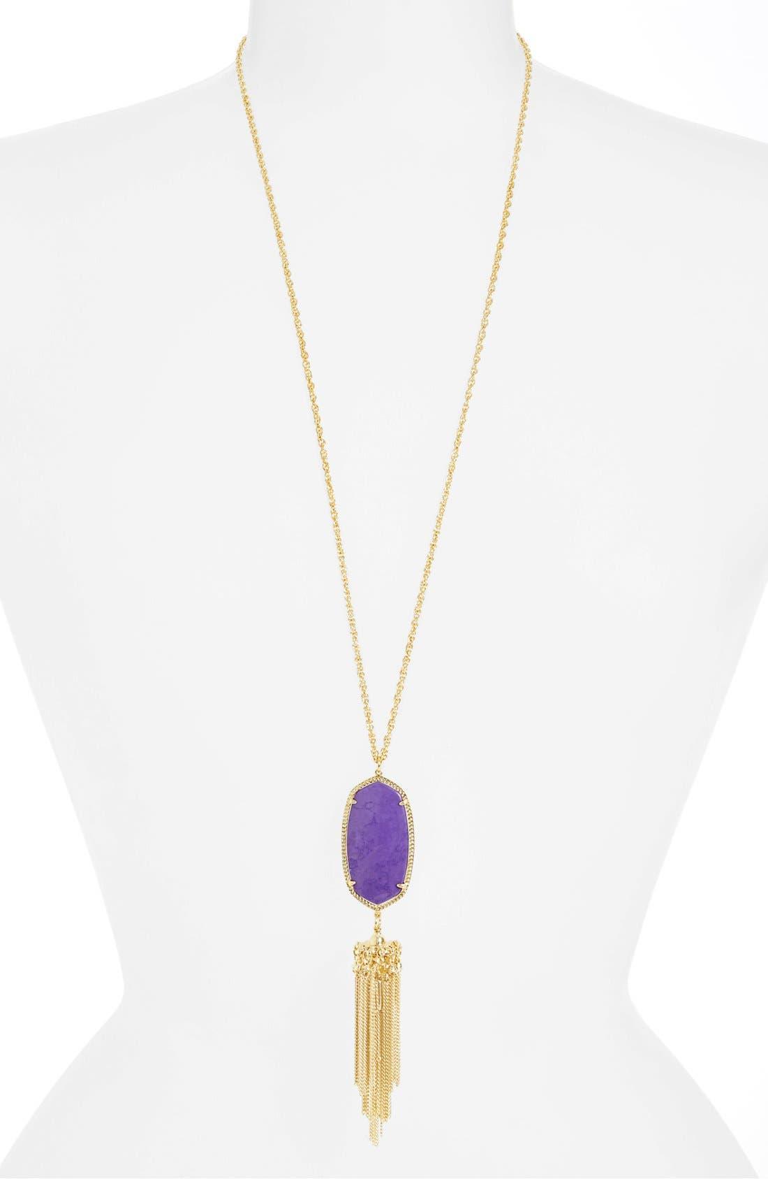 Rayne Stone Tassel Pendant Necklace,                             Alternate thumbnail 135, color,