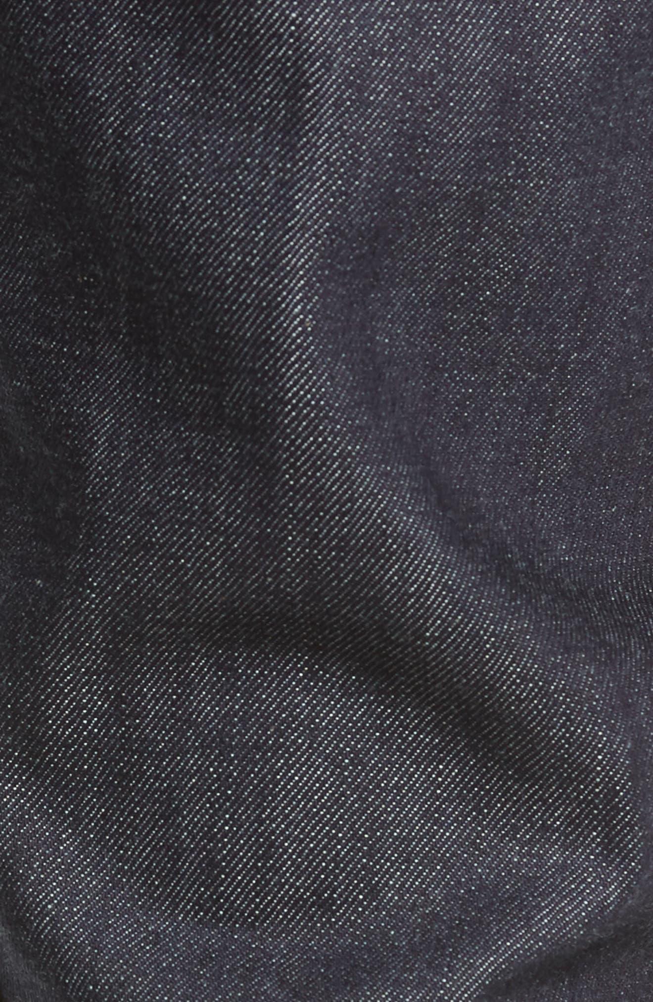 'Weird Guy' Slim Fit Selvedge Jeans,                             Alternate thumbnail 5, color,                             INDIGO