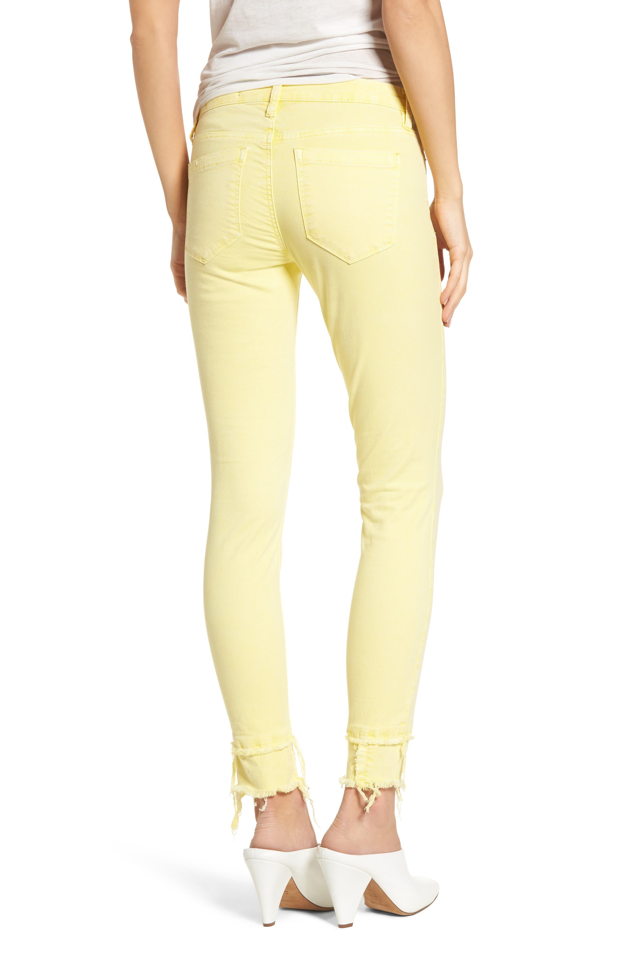 The Reade Classic Crop Raw Edge Double Hem Jeans,                             Alternate thumbnail 2, color,
