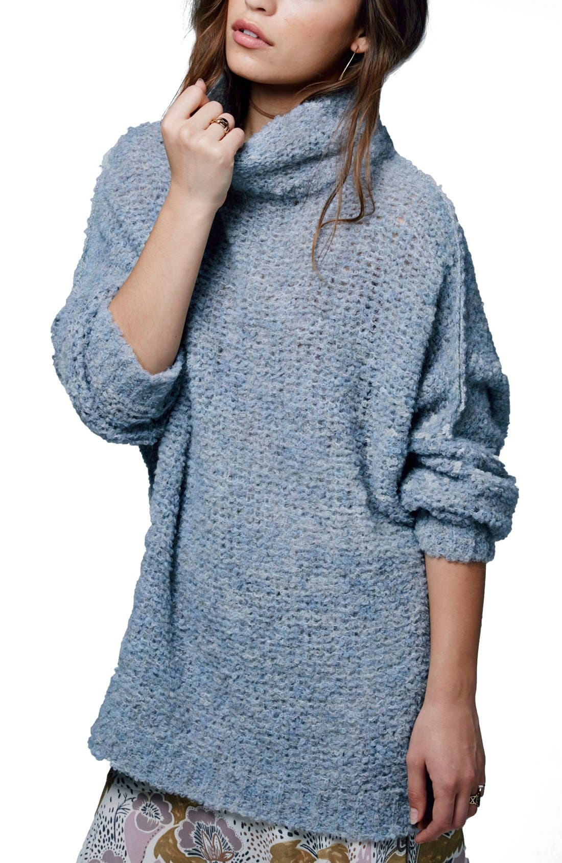 'She's All That' Knit Turtleneck Sweater,                             Main thumbnail 3, color,