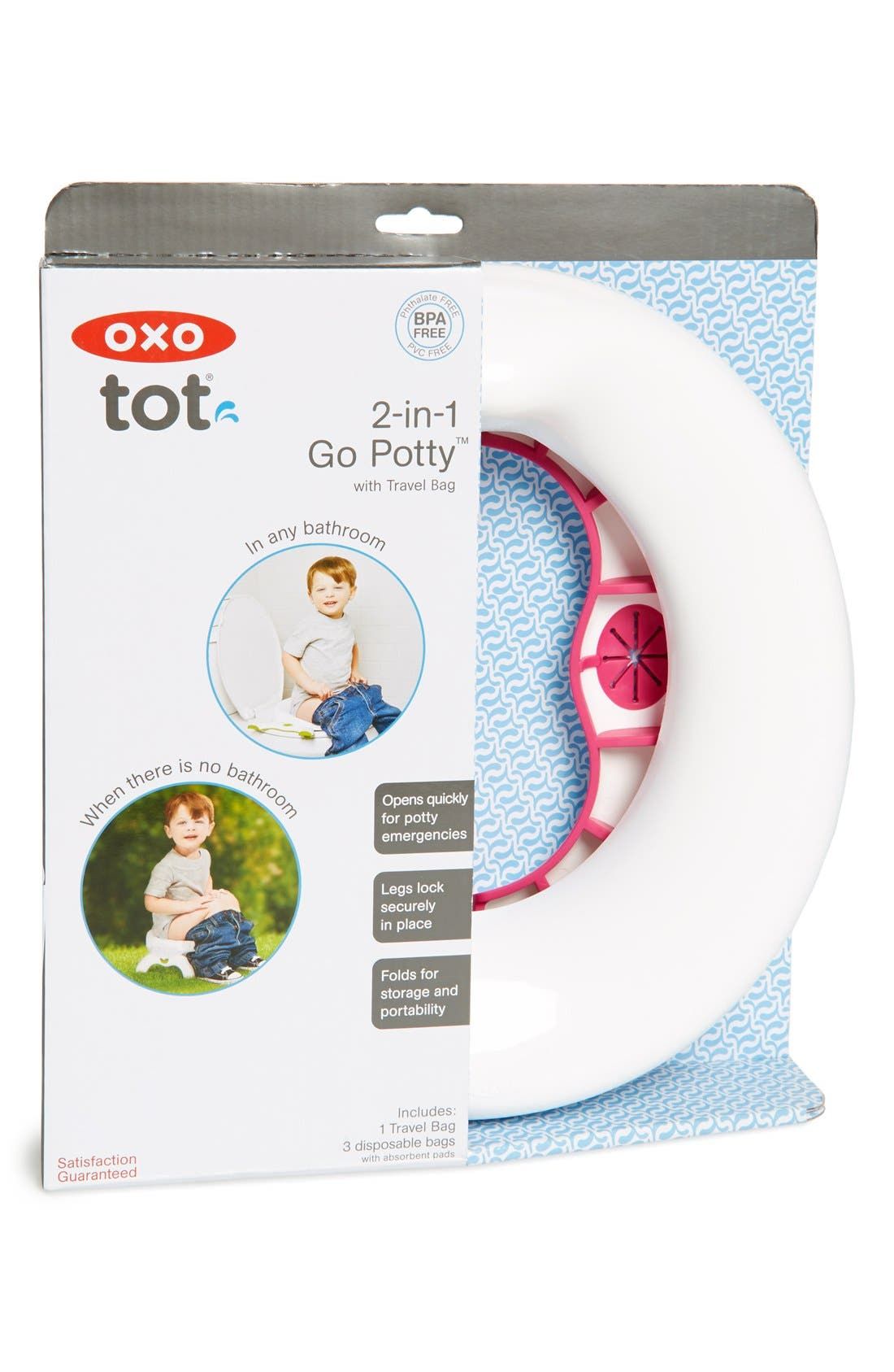 '2-in-1 Go Potty' Portable Toilet Set & Travel Bag,                             Main thumbnail 3, color,
