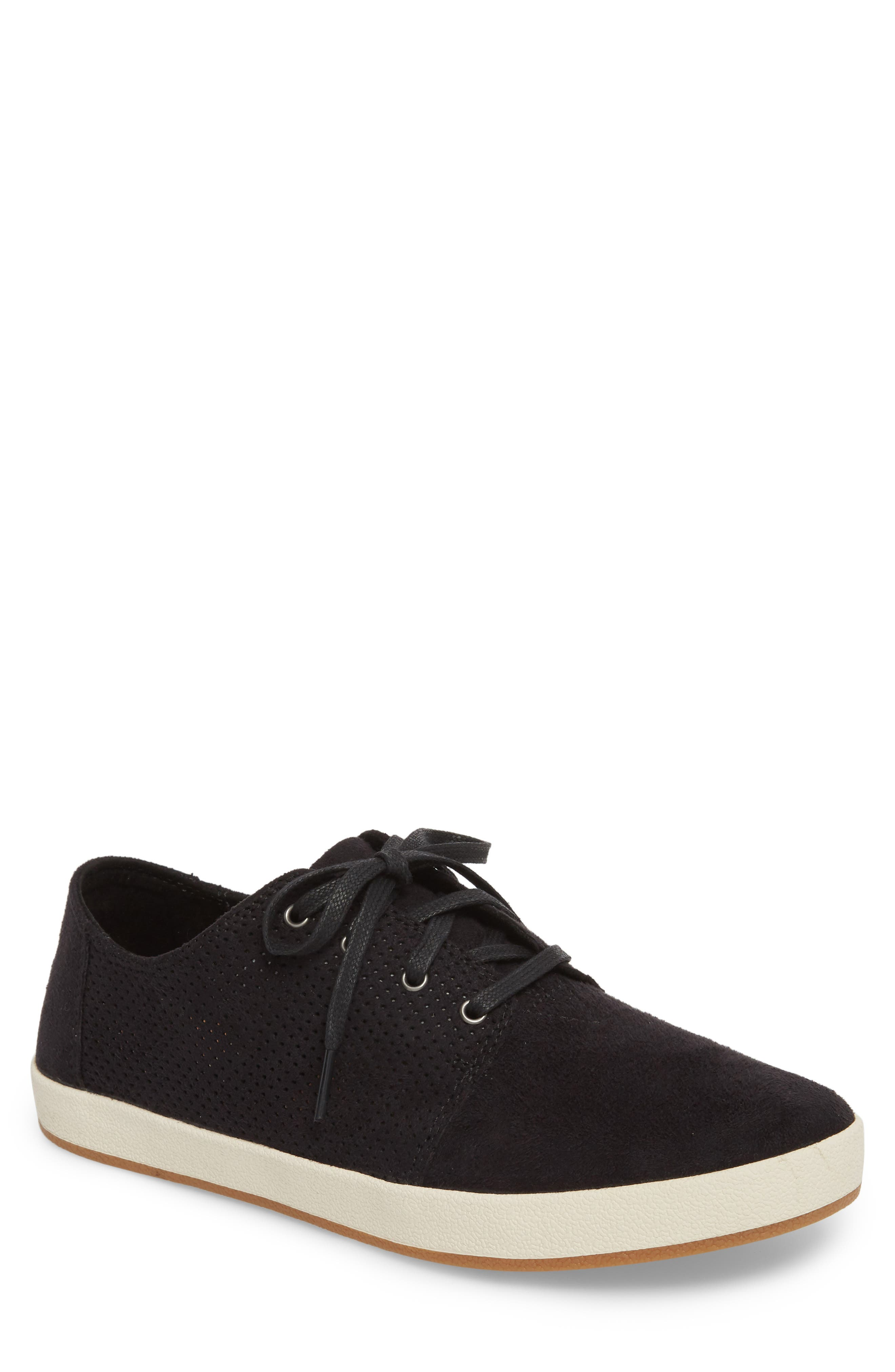 Payton Perforated Sneaker,                             Main thumbnail 1, color,                             001
