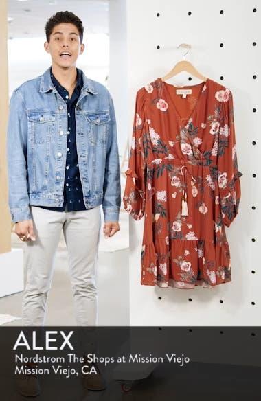 Floral Faux Wrap Silk Dress, sales video thumbnail
