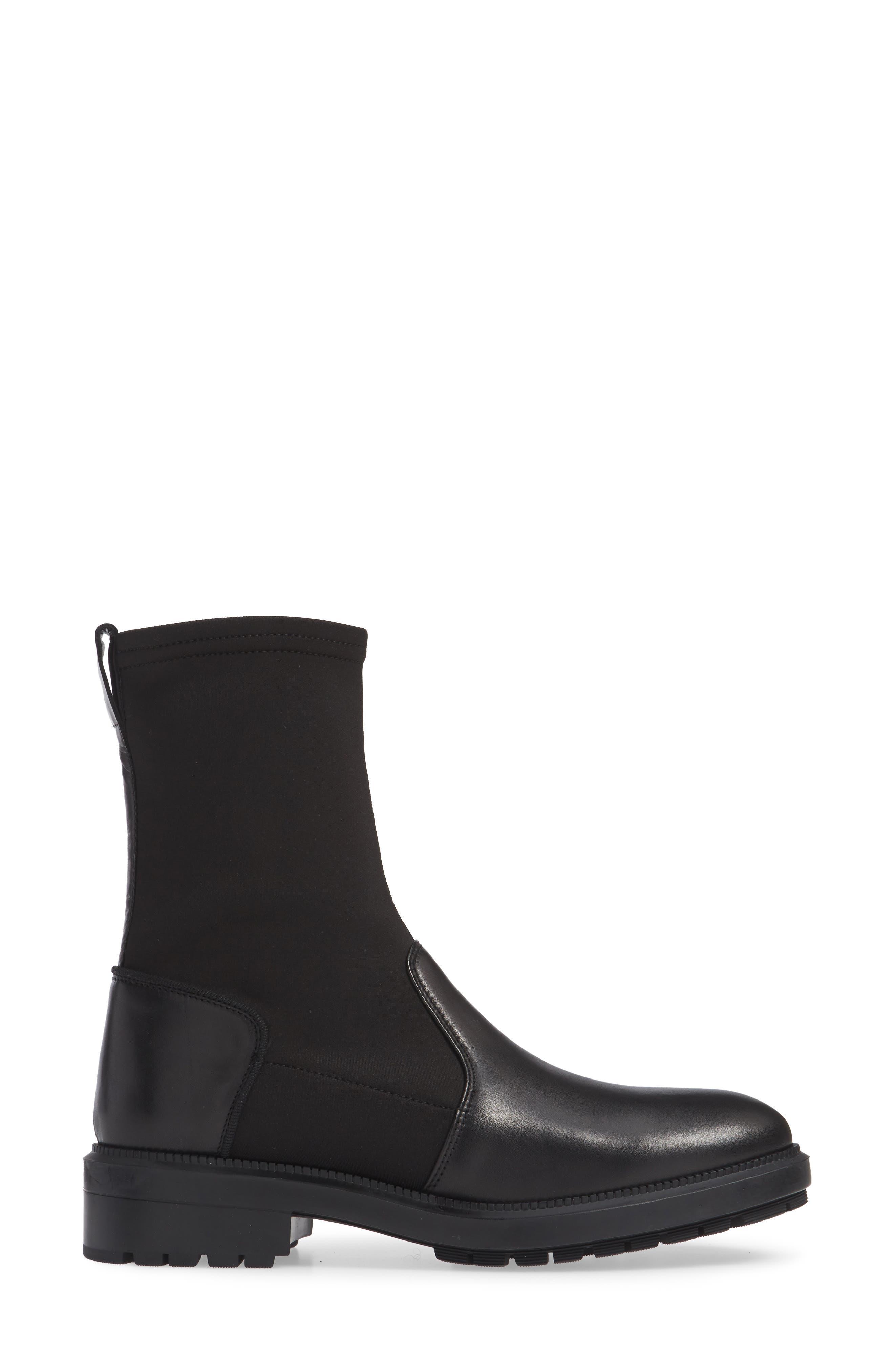 Leoda Ankle Boot,                             Alternate thumbnail 3, color,                             BLACK